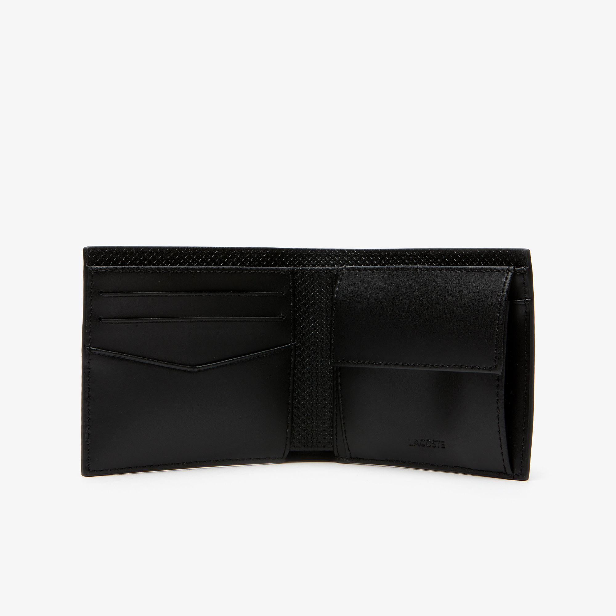 c0e57eac951 Lacoste - Black Chantaco Piqué Leather Wallet And Card Holder Set for Men -  Lyst. View fullscreen