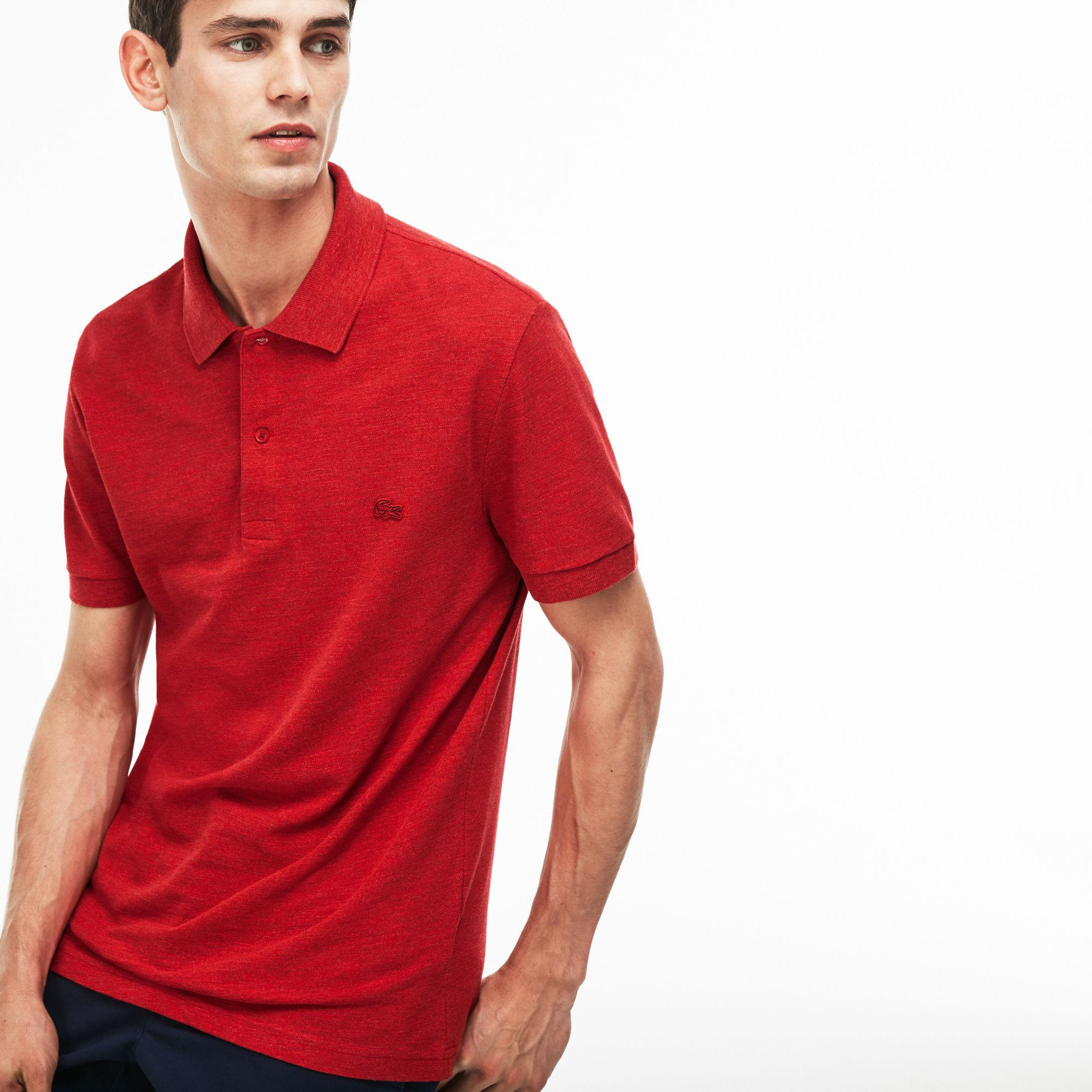 3028410c7cbd0 Lyst - Lacoste Regular Fit Cotton Piqué Polo in Red for Men