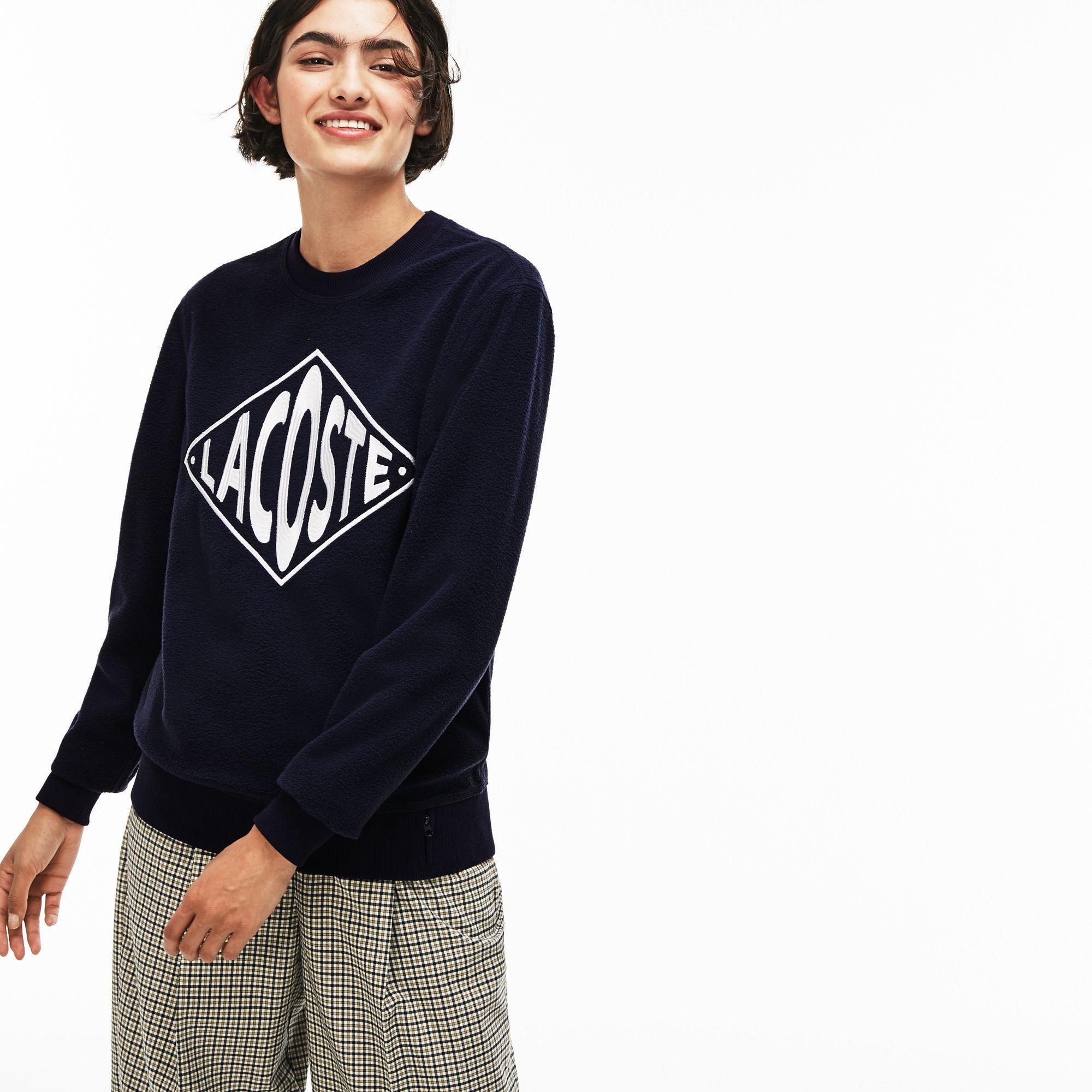 6add276ca Lyst - Lacoste Unisex Live Crew Neck Xl Embroidery Fleece Sweatshirt ...