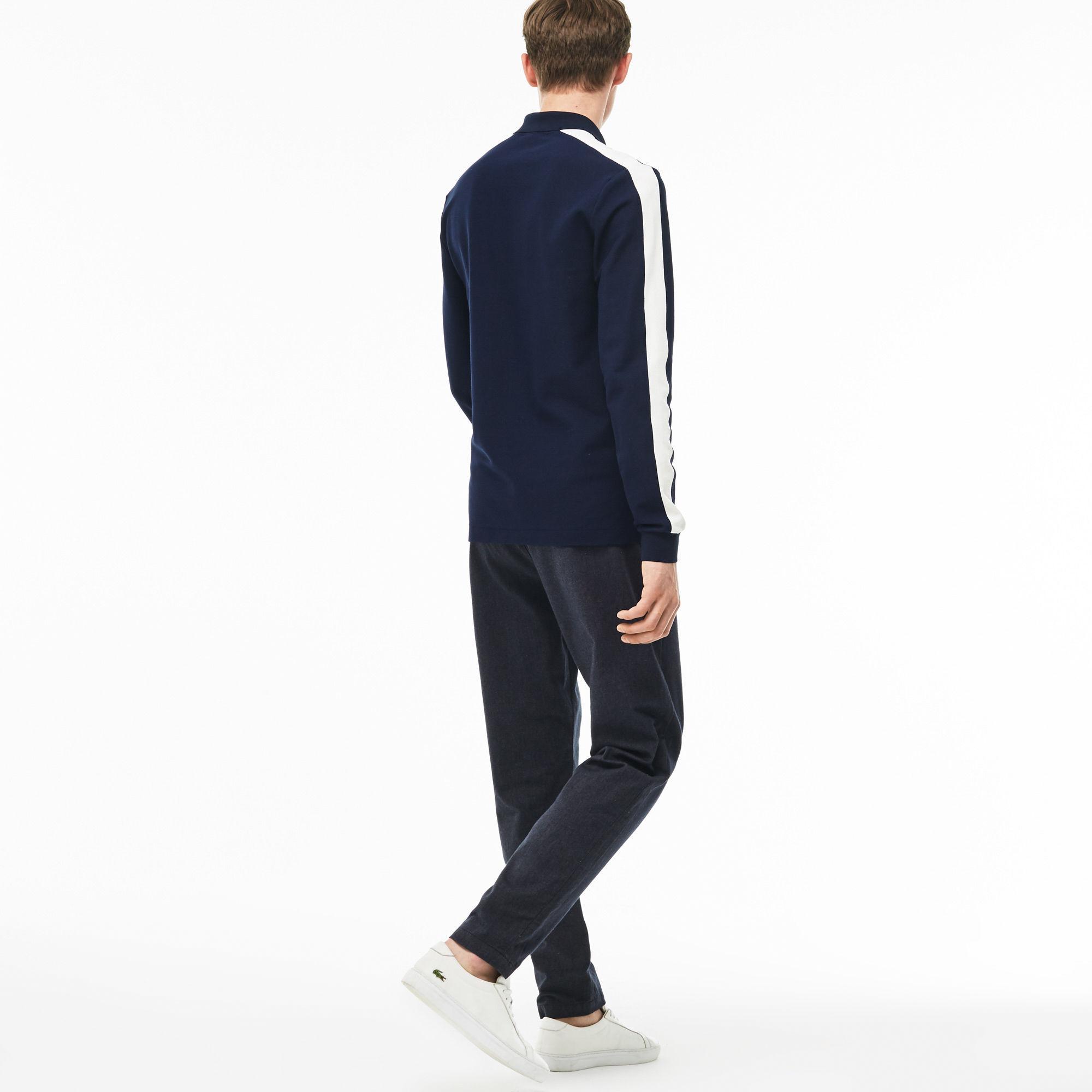 82e8da1f Lyst - Lacoste Slim Fit Elasticized Cotton Twill Chino Pants in Blue ...