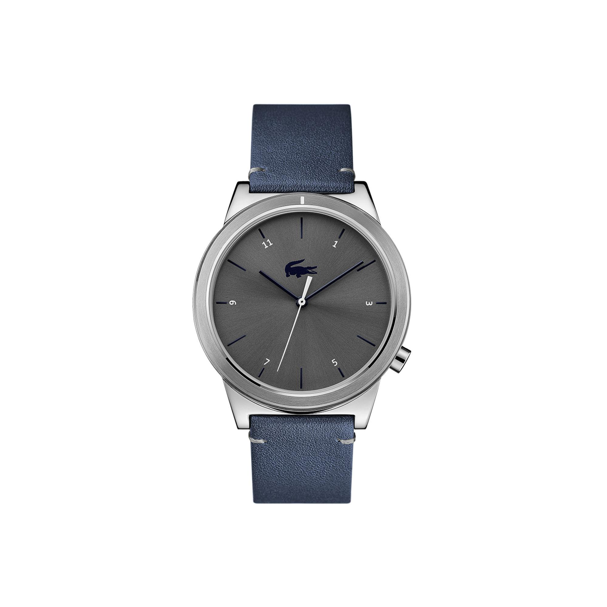 Lacoste. Men's Motion Watch With Blue Leather Strap