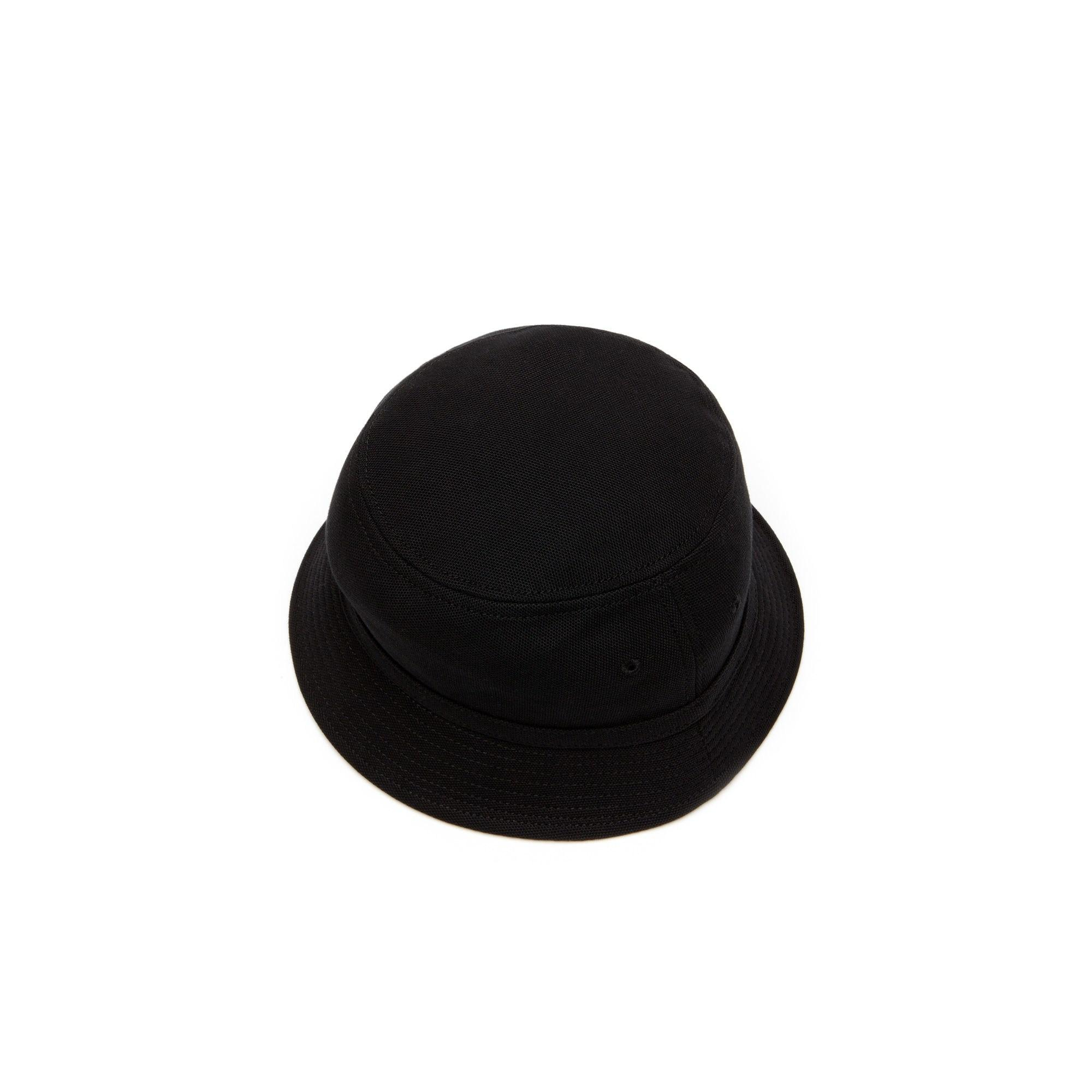 5aad5f82 Lacoste - Black Cotton Piqué Bucket Hat for Men - Lyst. View fullscreen