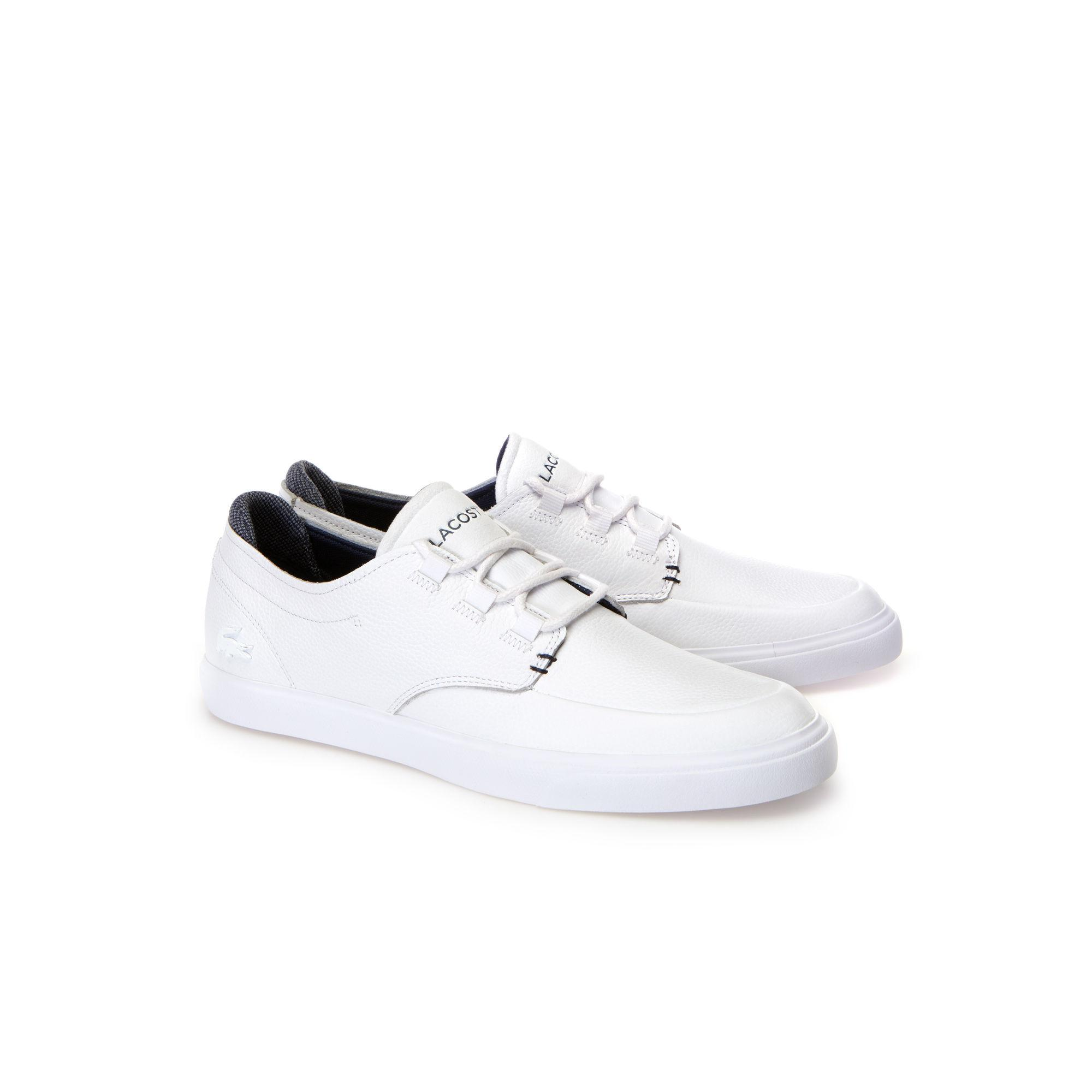 c549536c2 Lacoste White Shoes Lyst Esparre Men Leather In Deck For aFdYw