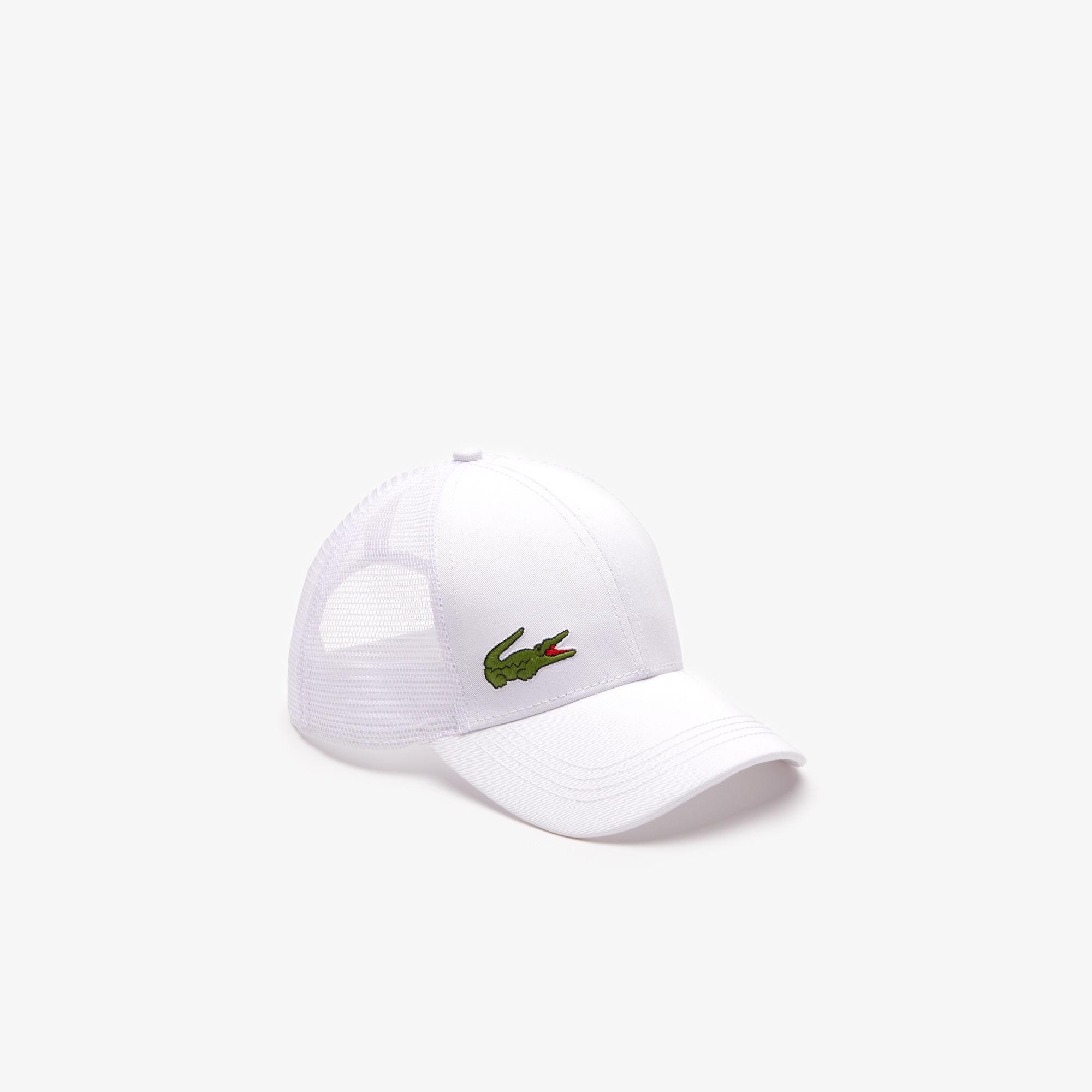 Lyst - Lacoste Sport Gabardine And Mesh Tennis Cap in White for Men e5ac3f37dbc