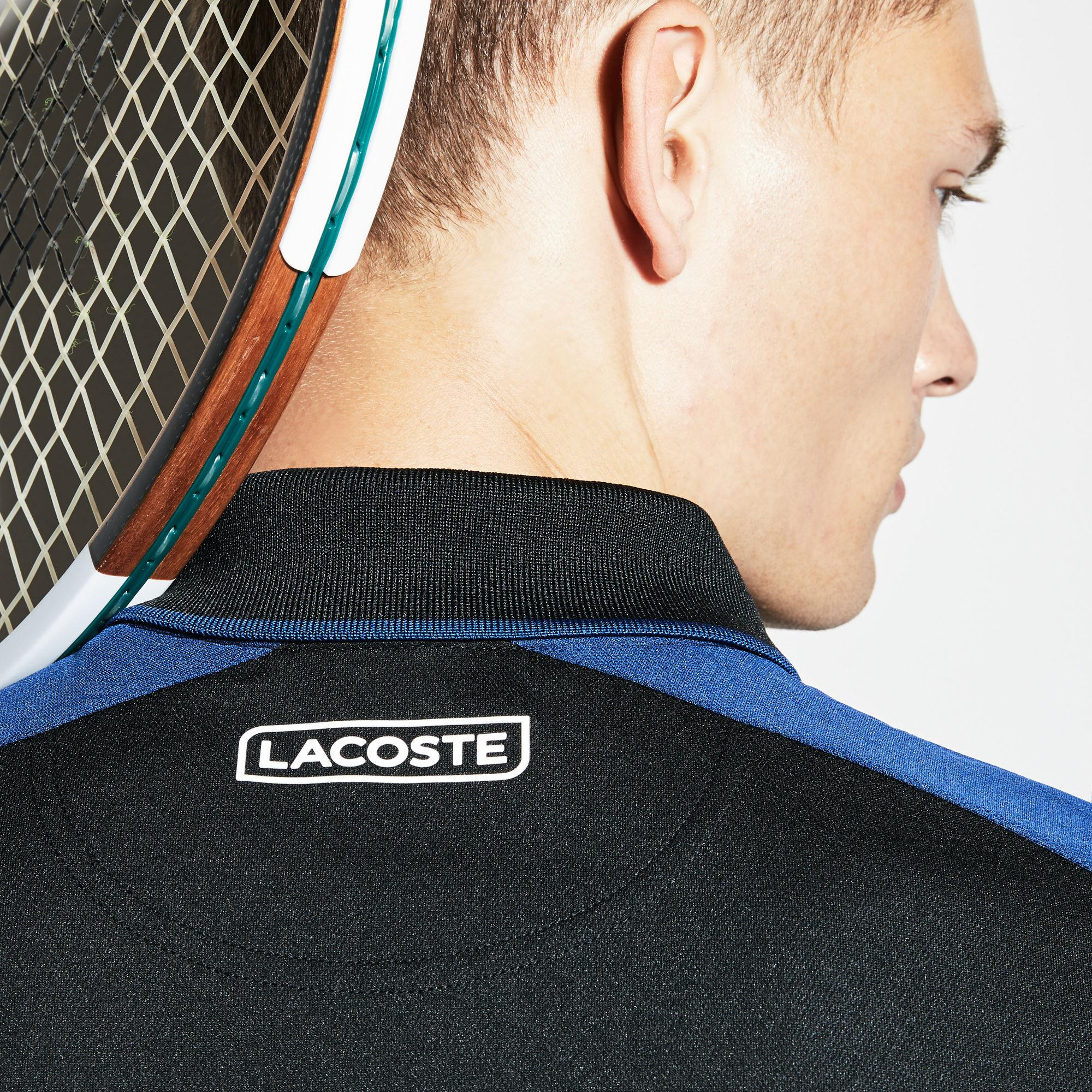 73bf927d01a81f Lyst - Lacoste Sport Zip Neck Contrast Bands Piqué Tennis Polo in ...