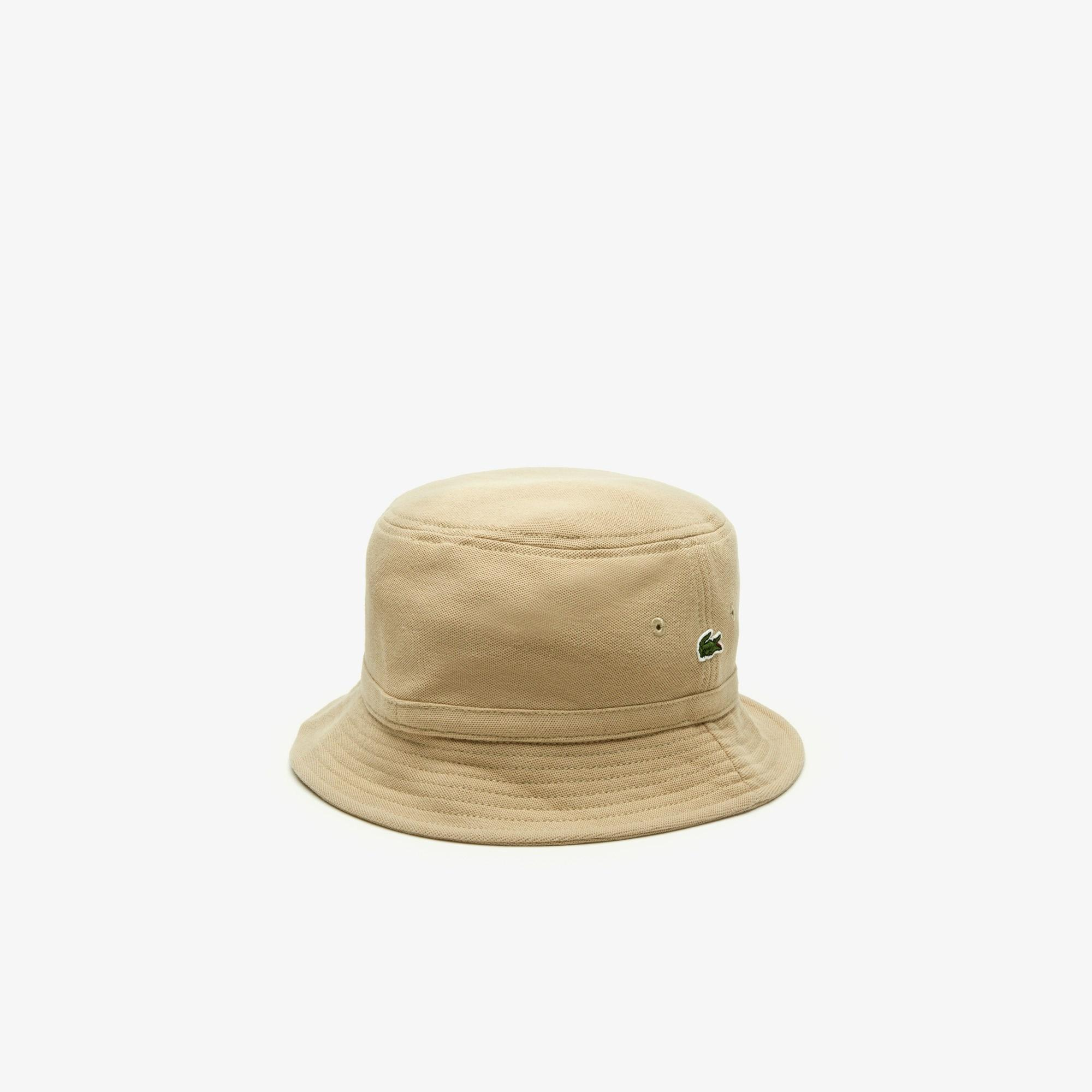 d92aa0ad Lacoste - Natural Cotton Piqué Bucket Hat for Men - Lyst. View fullscreen