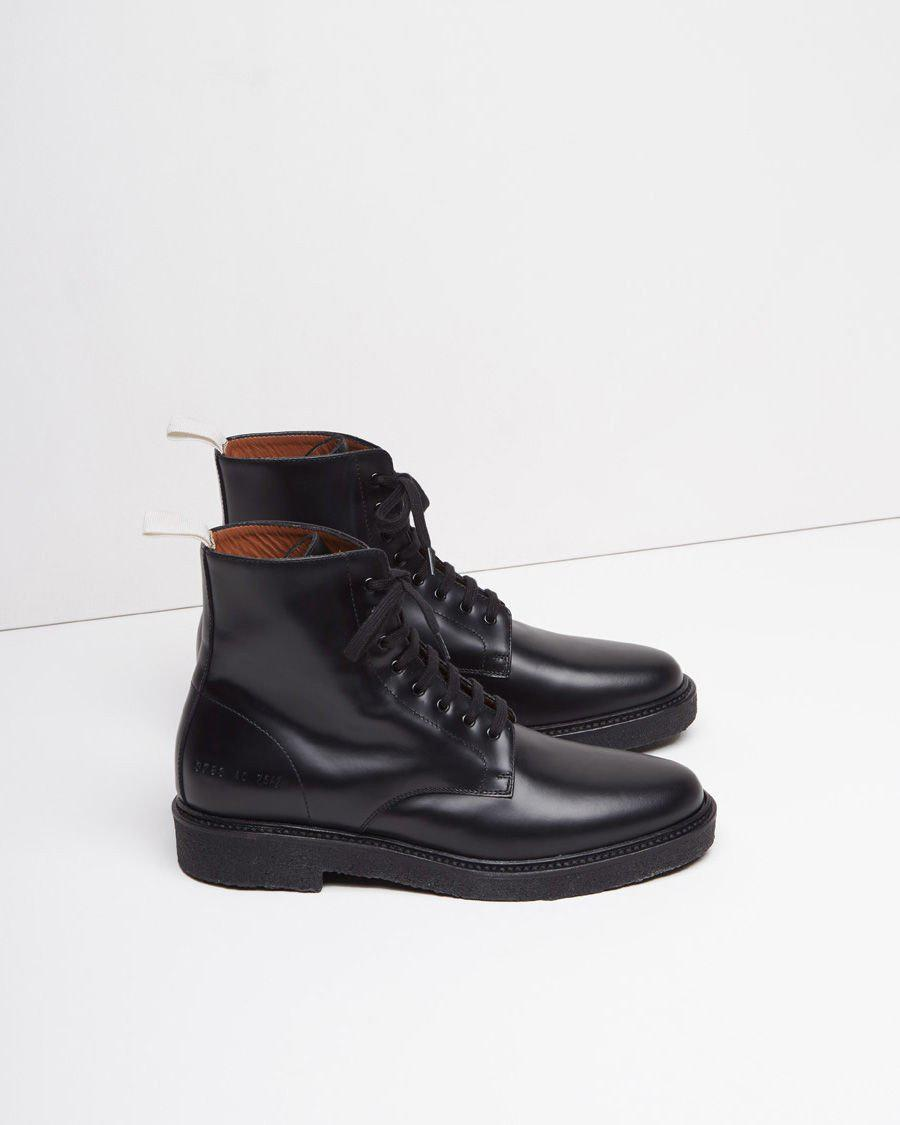 953bc808fc4f Common Projects Standard Combat Boot in Black for Men - Lyst