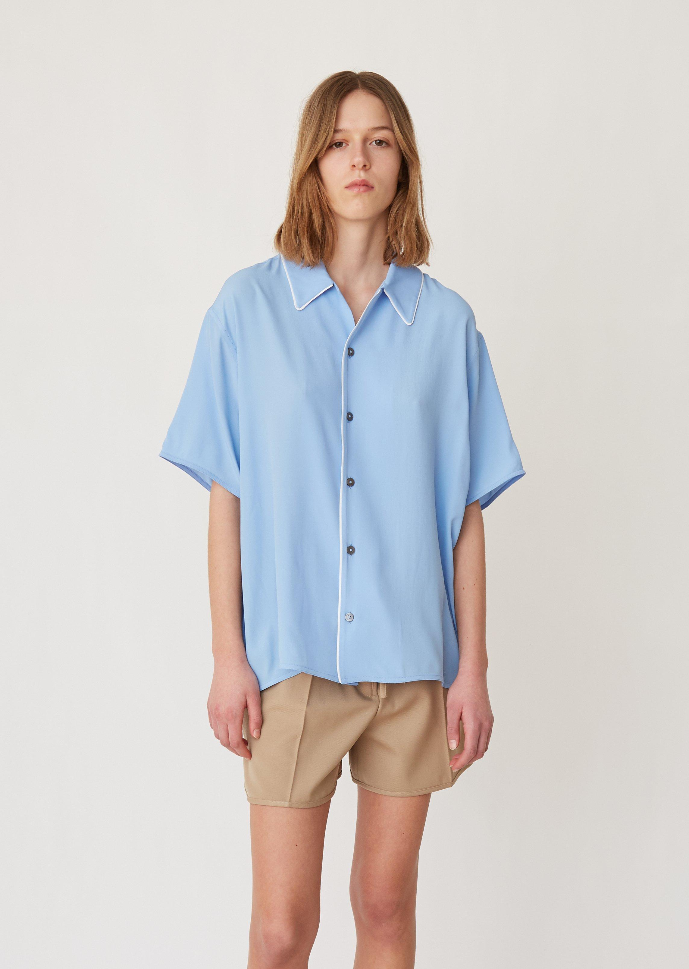 cc2a31fde73aff Lyst - Marni Washed Crepe Blouse in Blue