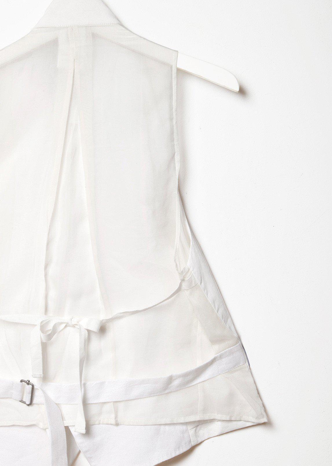 lyst ann demeulemeester sheer panel vest in white Anne Klien gallery