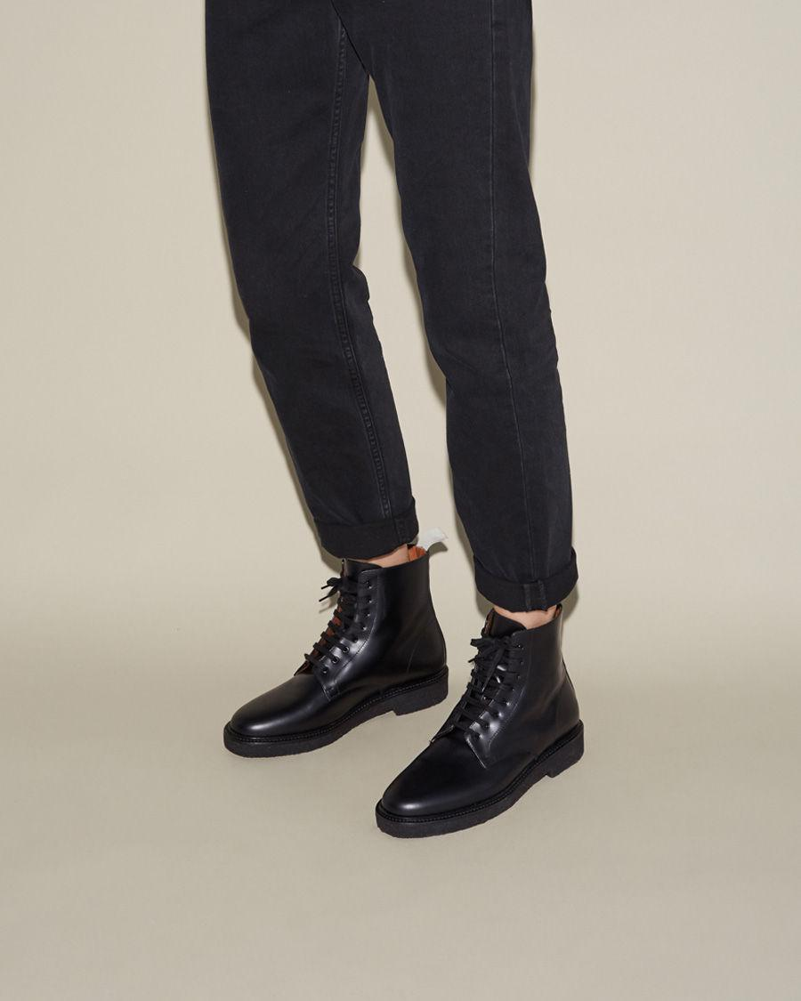 3a3eec379af6 Lyst - Common Projects Standard Combat Boot in Black