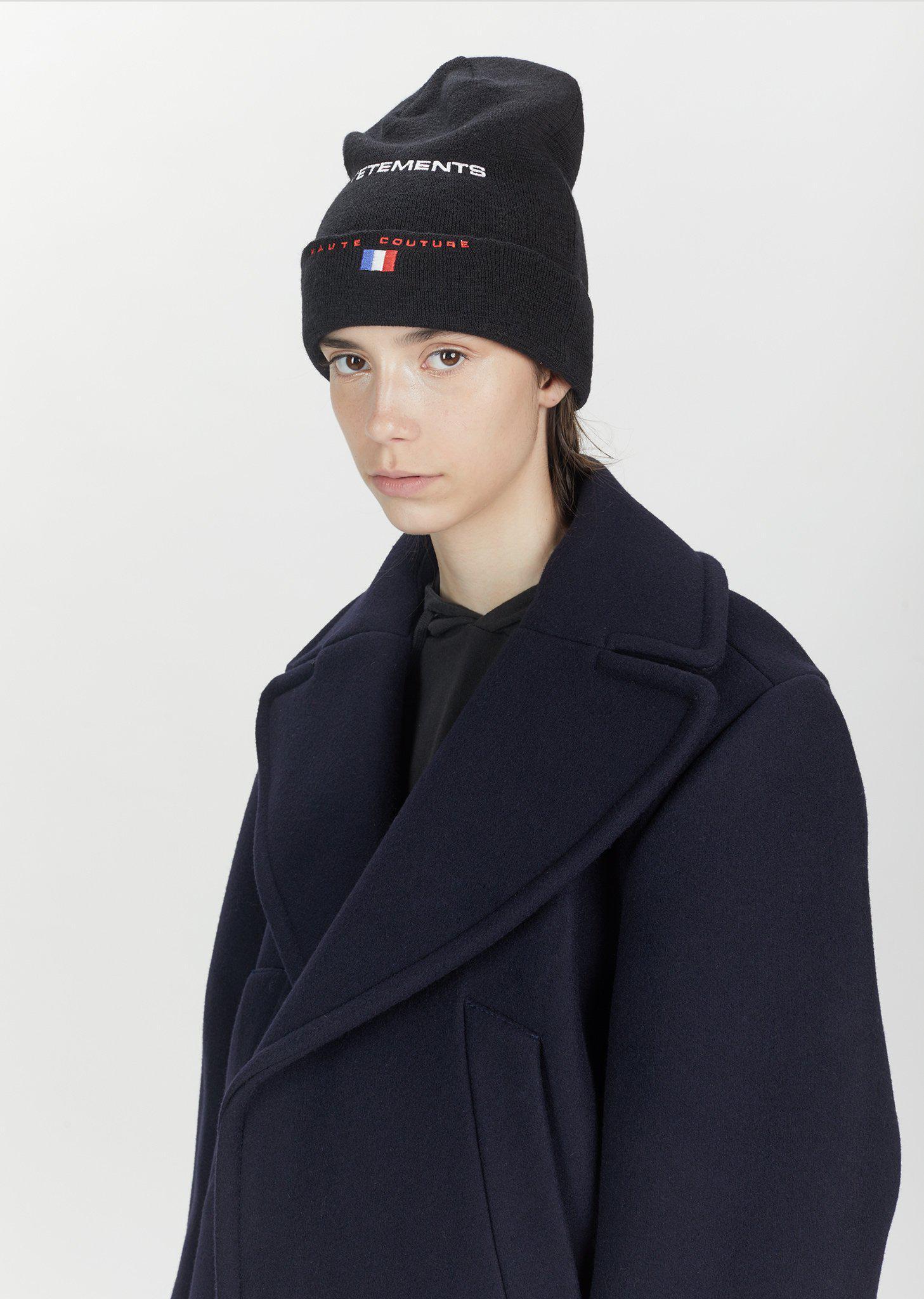 79e94717532 Lyst - Vetements Reebok Wool Beanie in Black