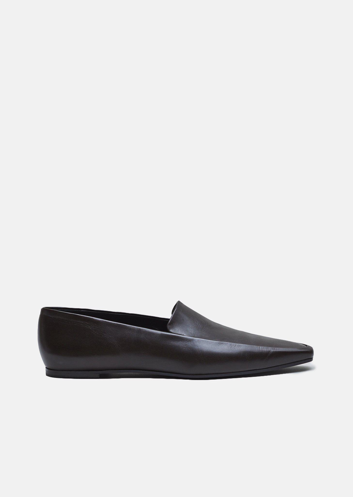 e141b4d32c8 Lyst - The Row Minimal Loafers in Brown