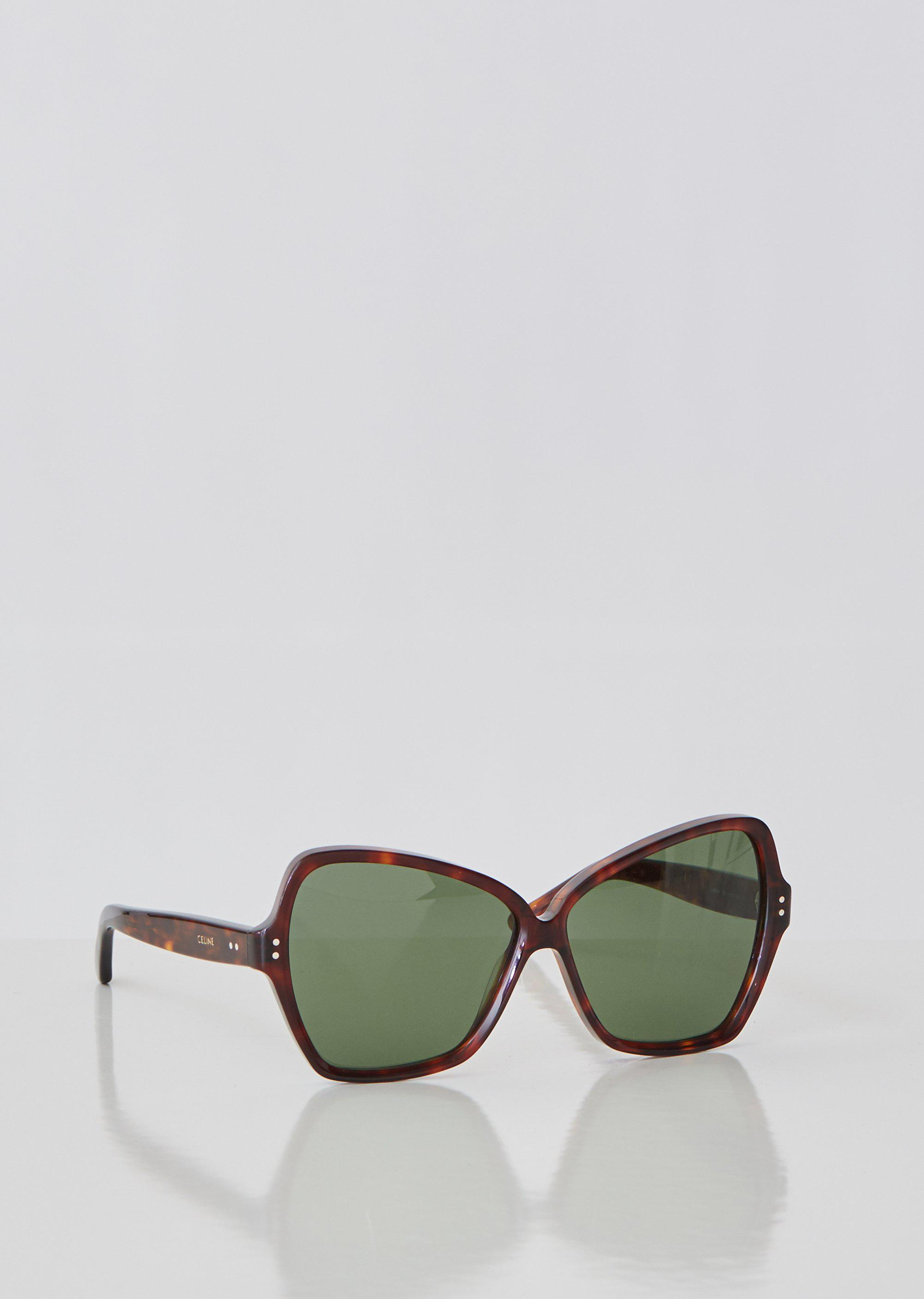 800eaade5ad6 Céline - Brown Oversized Butterfly Sunglasses - Lyst. View fullscreen