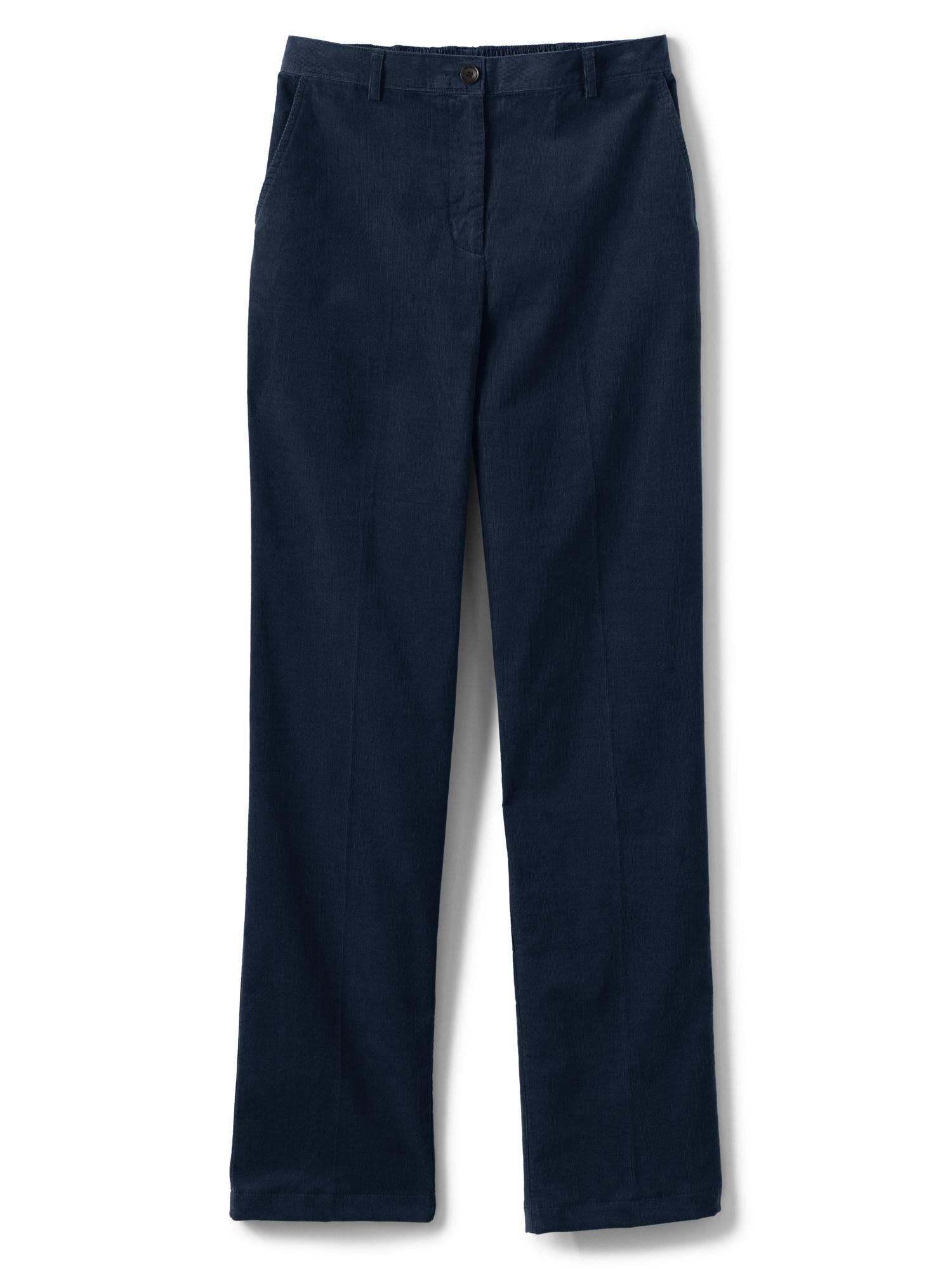 e95e68fd8e5 Lands  End. Women s Blue High Waisted Trousers ...