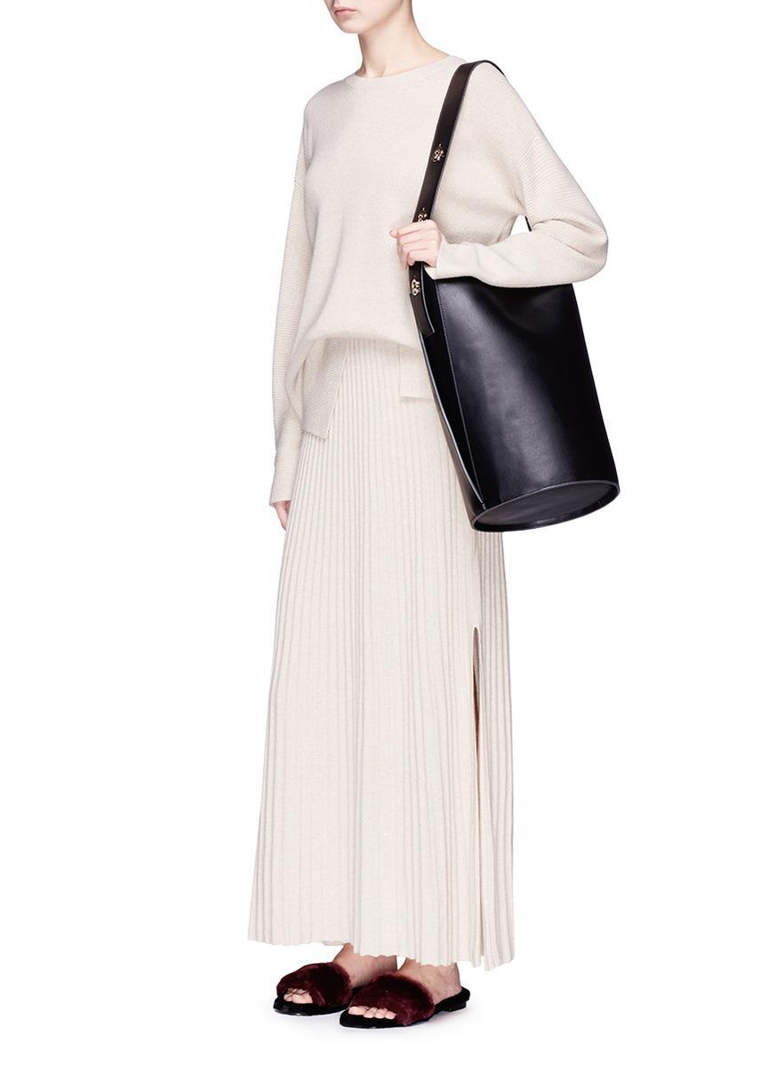 Lyst - Danse Lente  lorna  Leather Bucket Bag in Black e4e64ecd610ff