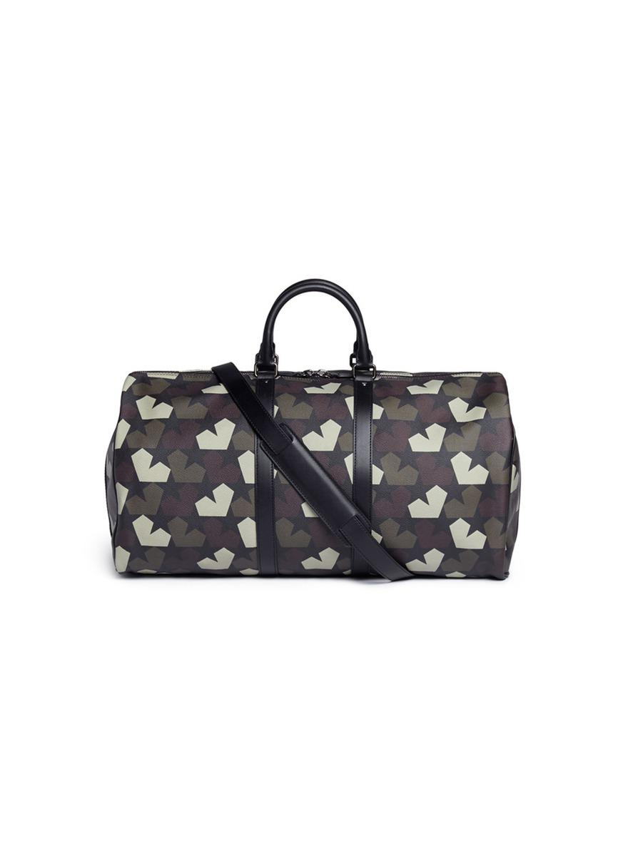 ae3cac79eb7 Ports 1961 Camouflage Star-Print Faux-Leather Duffle Bag in Green ...