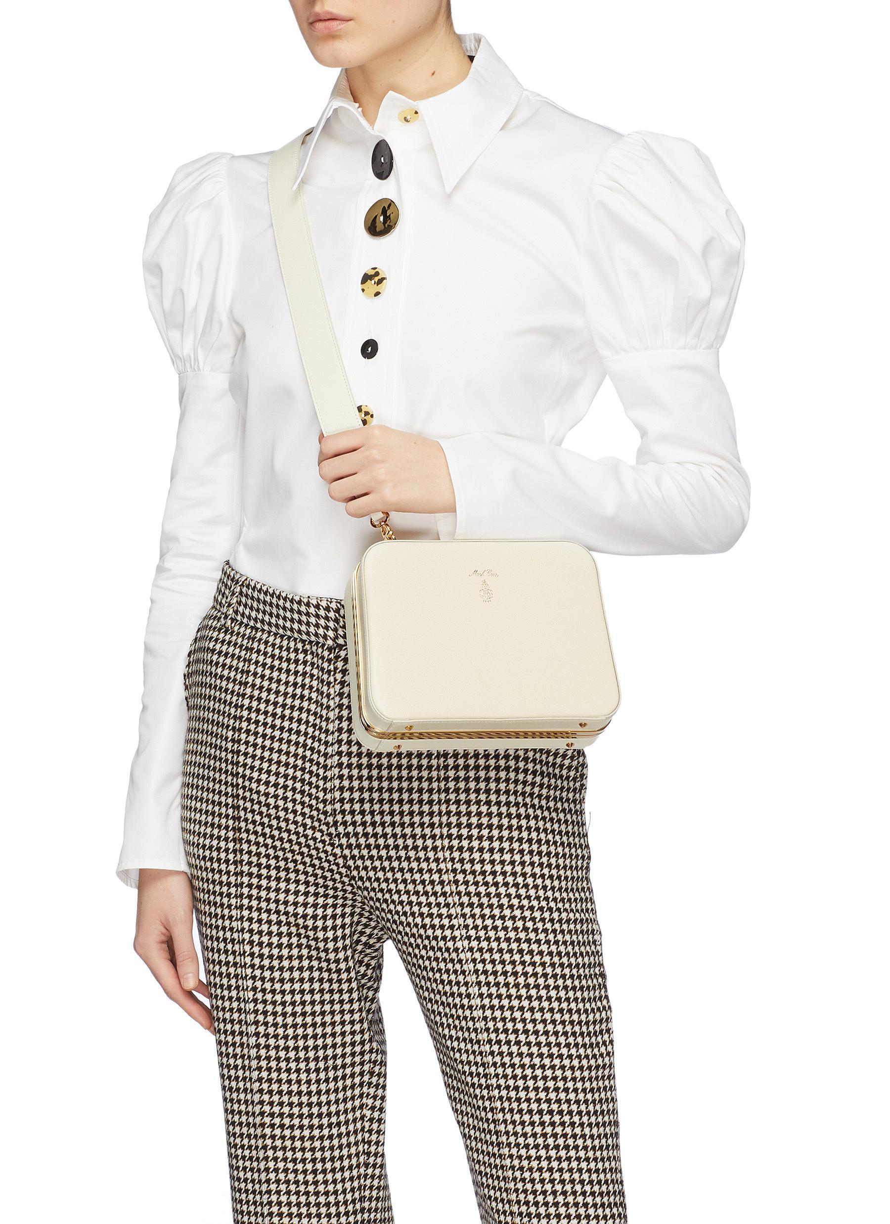 Lyst - Mark Cross \'juliana Frame\' Leather Shoulder Bag
