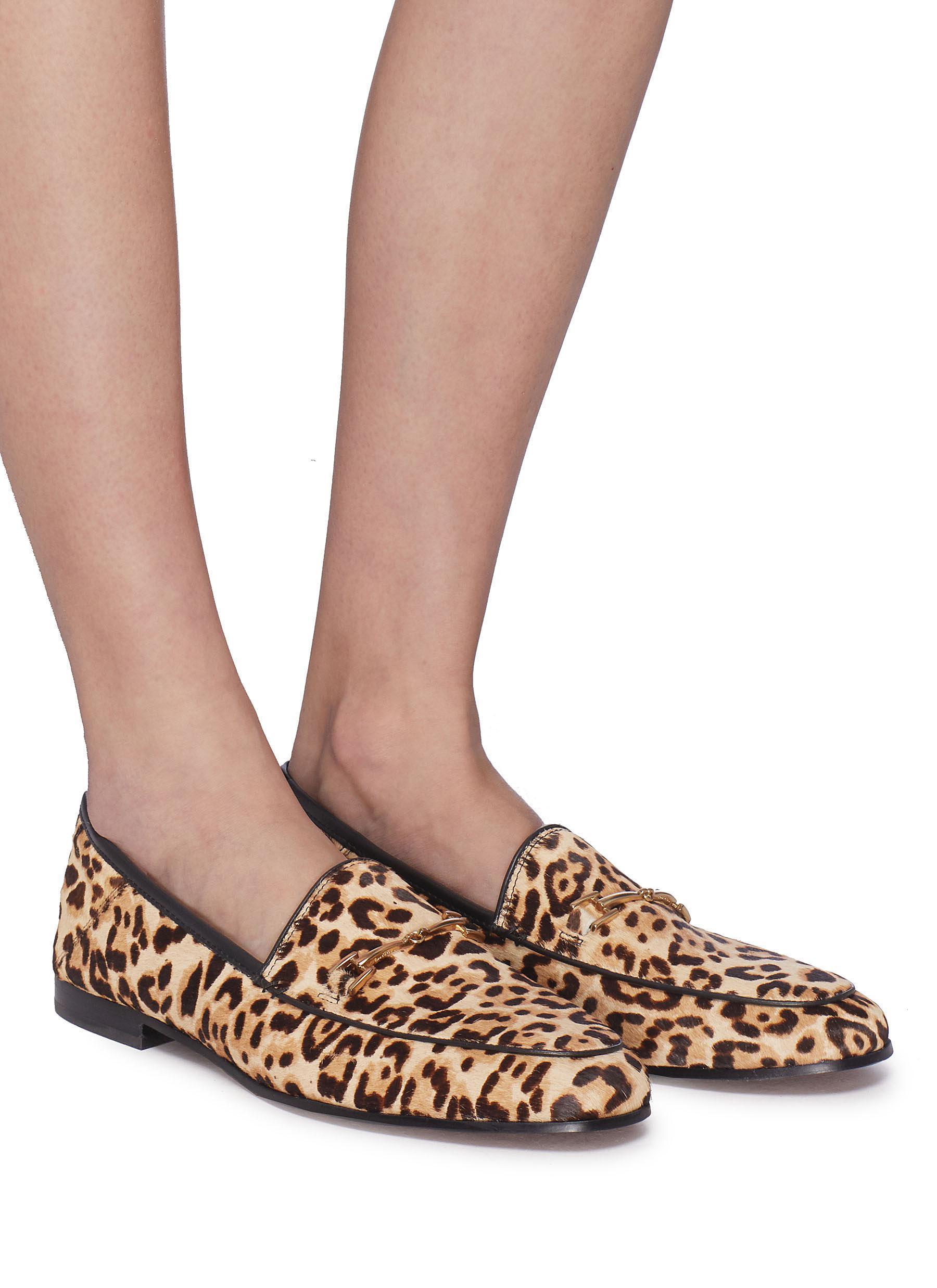 e1f22ecb688 Sam Edelman - Brown  lorraine  Horsebit Leopard Print Cow Hair Step-in  Loafers. View fullscreen