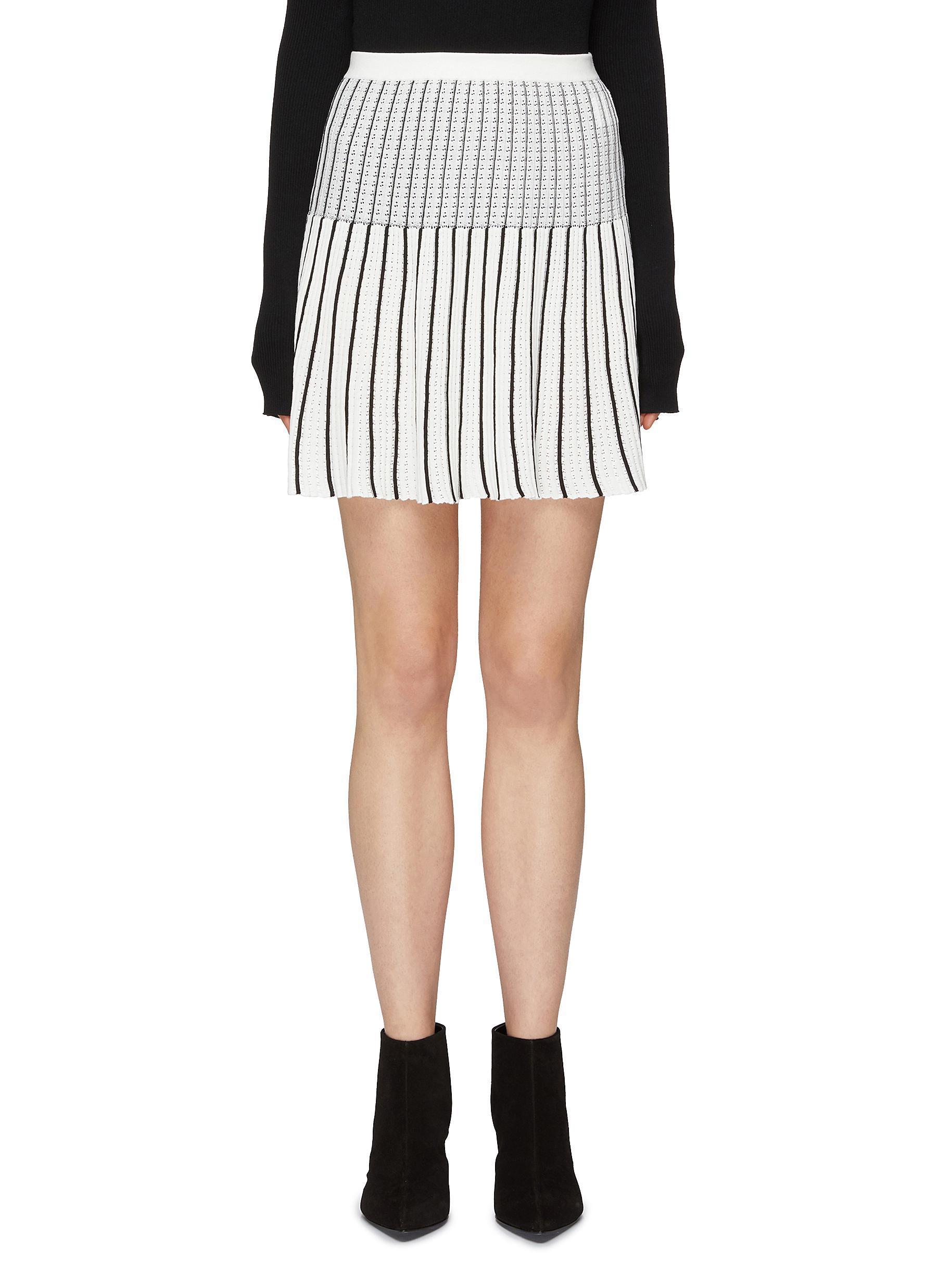37bcdf2bcd Sonia Rykiel. Women's Stripe Pleated Knit Skirt