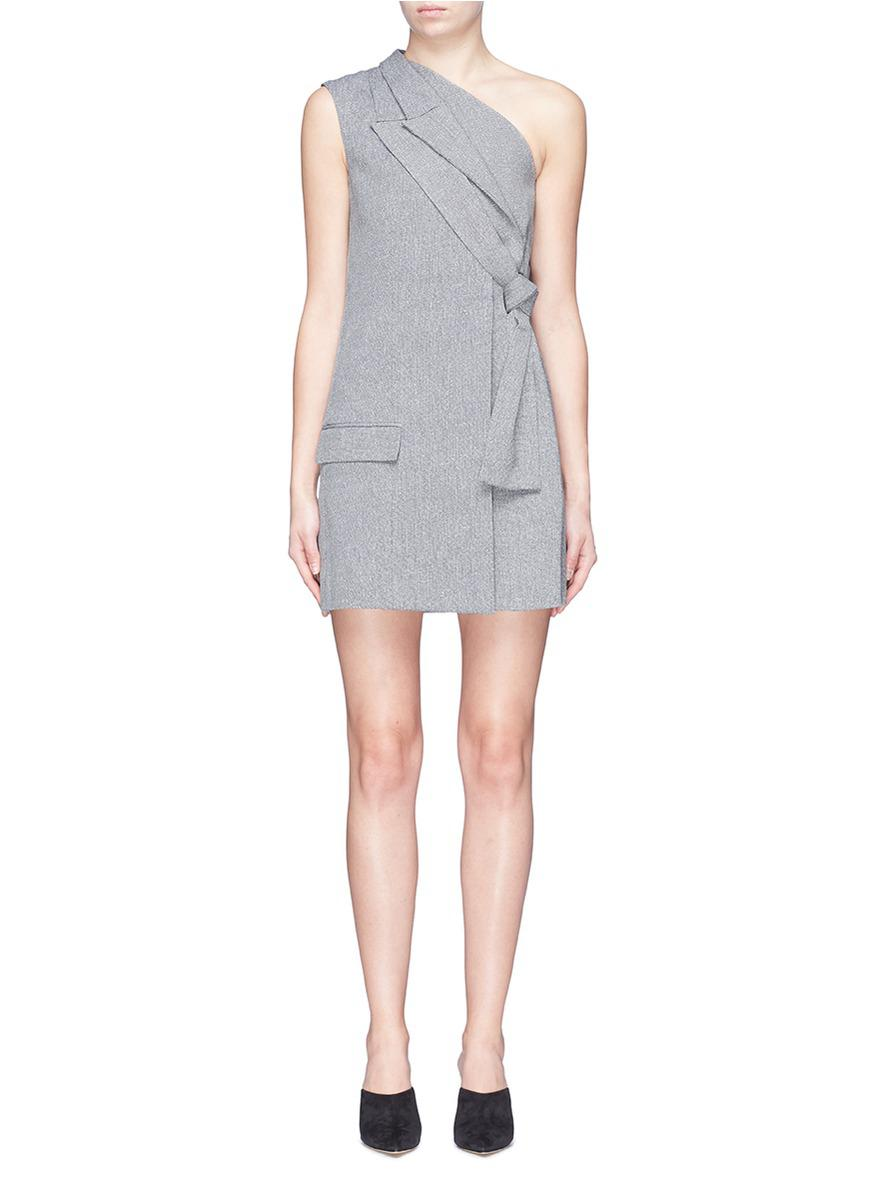 100% Guaranteed Online Hot Sale Online Mirror Lapel dress - Blue Dion Lee Low Cost Official AYlpM