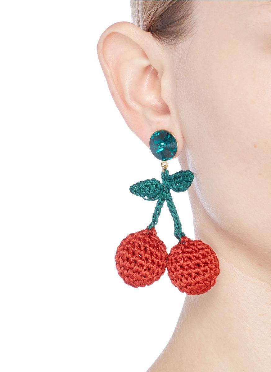 Venessa Arizaga Cherry earrings vYjBQ