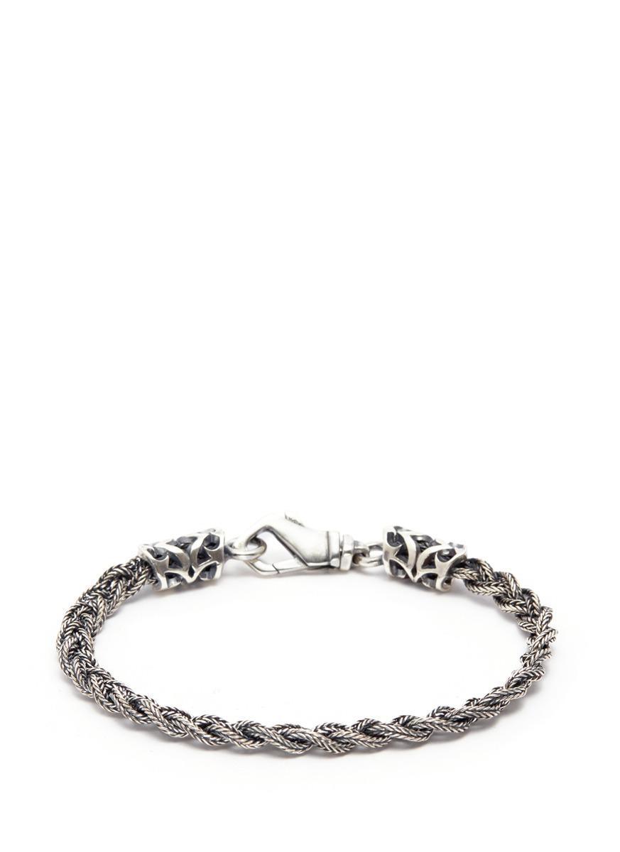 Emanuele Bicocchi braided style bracelet - Metallic DTYaJXT