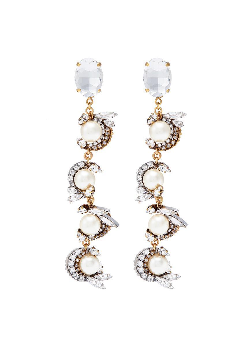 Erickson Beamon 24k Swarovski Crystal Birdcage Earrings 0jDIKjk