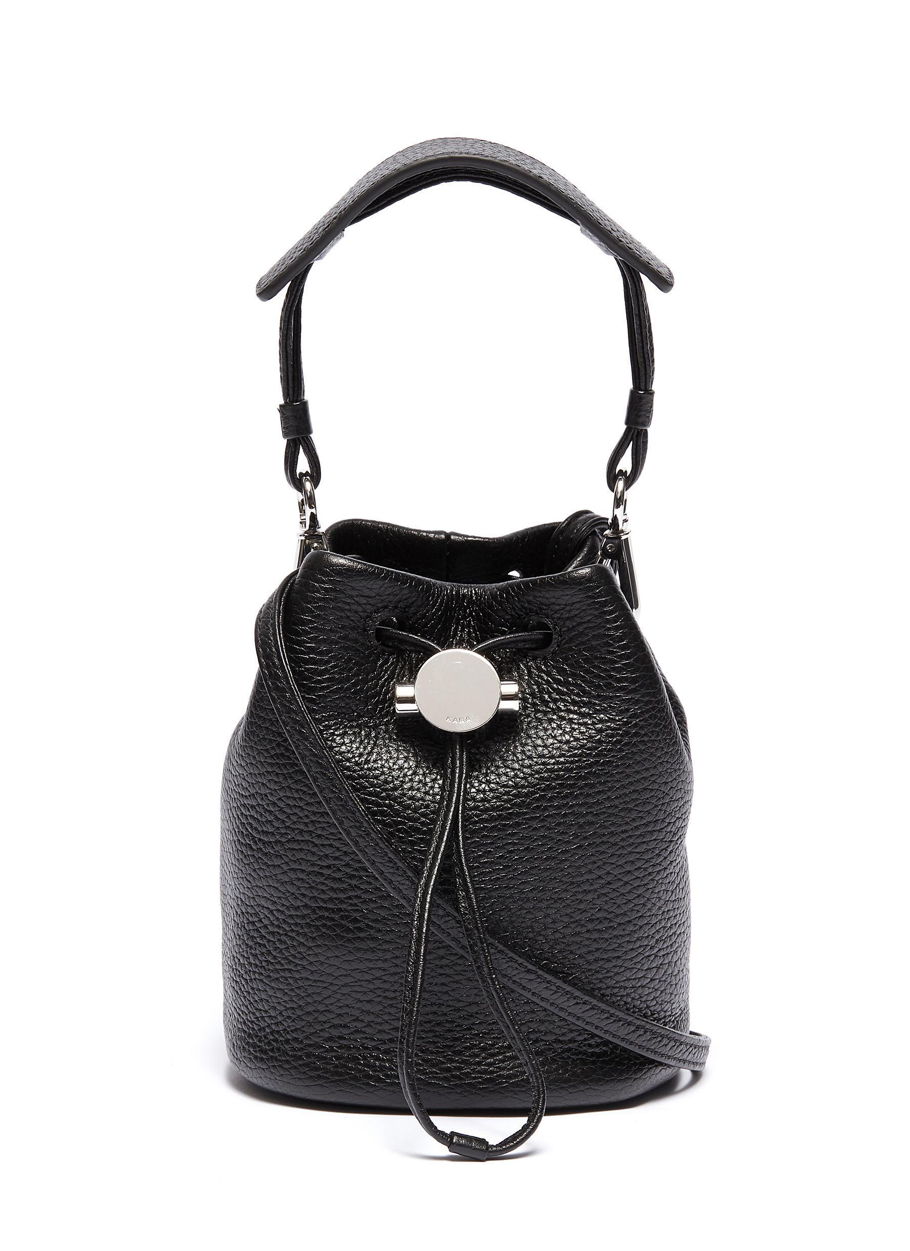 d3934926c0 Lyst - Kara  moon  Mini Leather Bucket Bag in Black - Save 3%