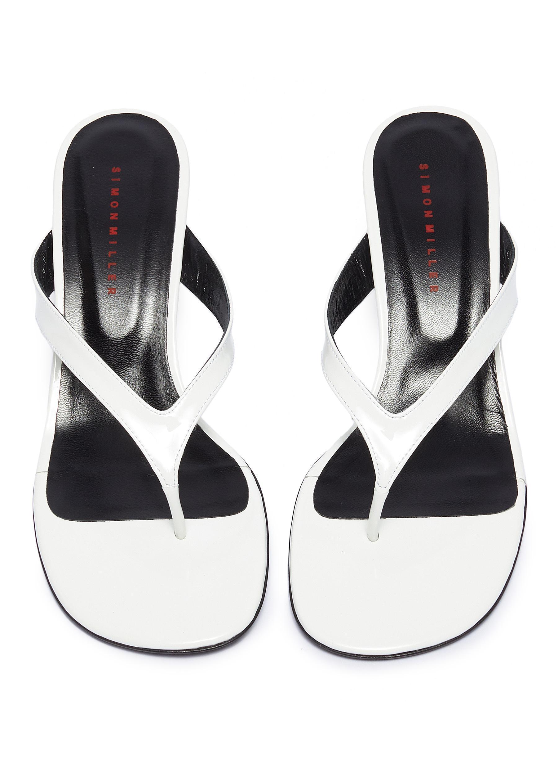 a90e06f79 Simon Miller - White  beep Thong  Leather Sandals - Lyst. View fullscreen