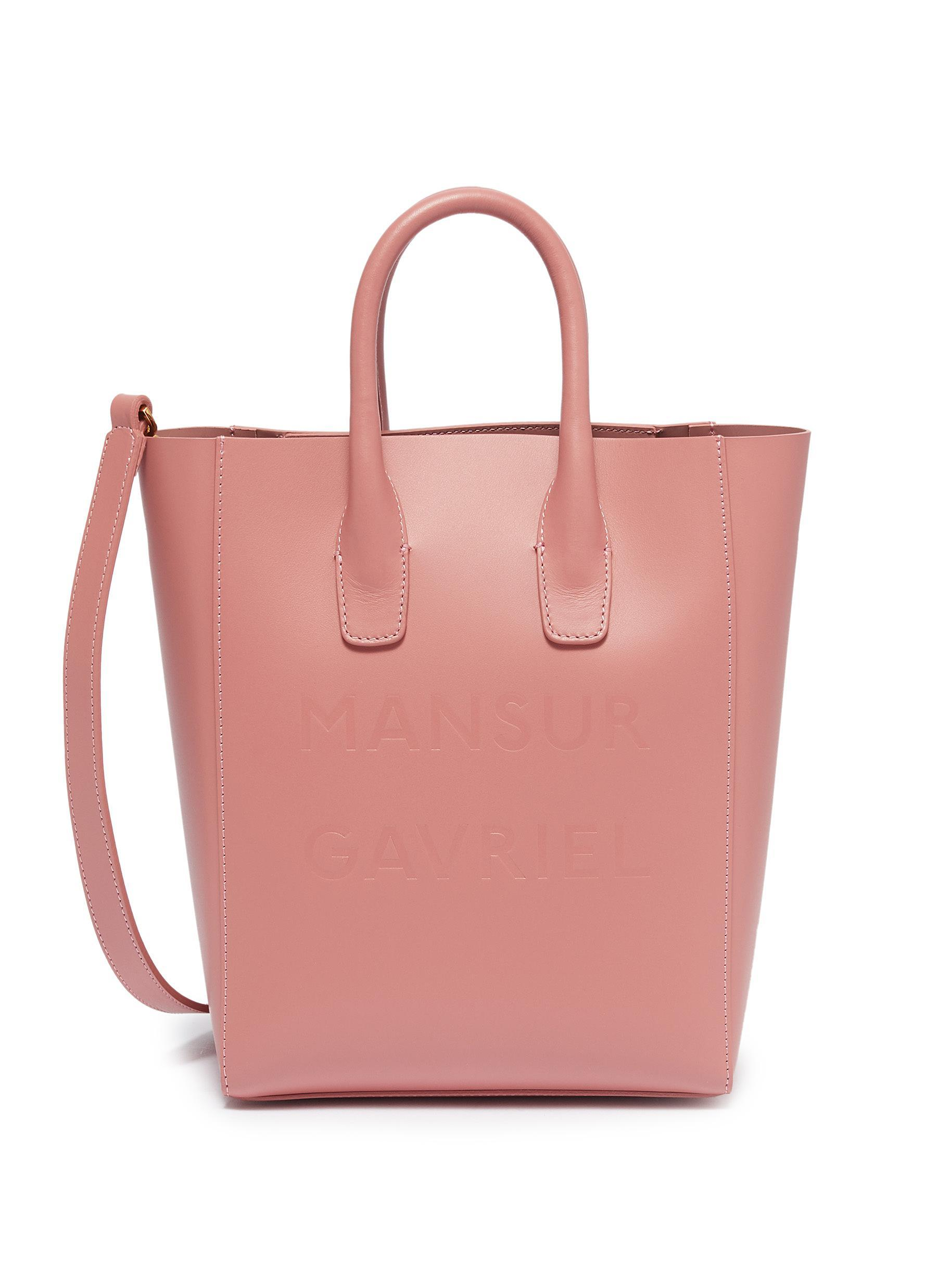 c594763054a Mansur Gavriel  ns  Mini Leather Tote in Pink - Lyst