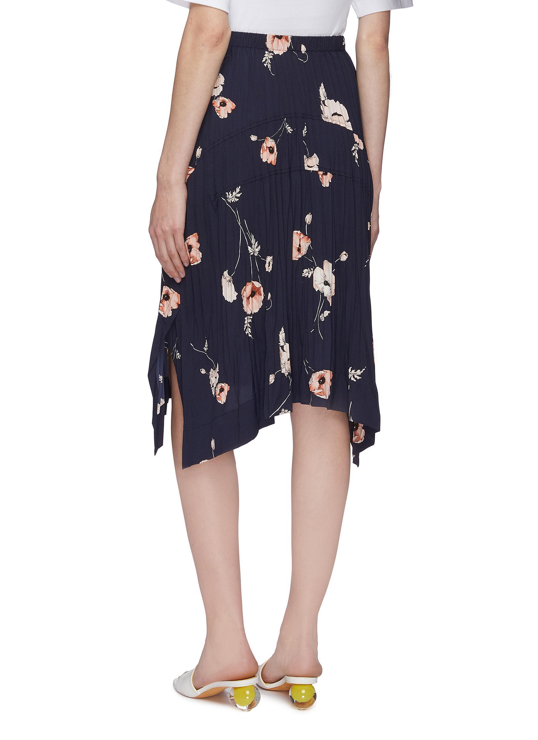 494b0f2099f0 ... Poppy Print Pleated Midi Skirt - Lyst. View fullscreen