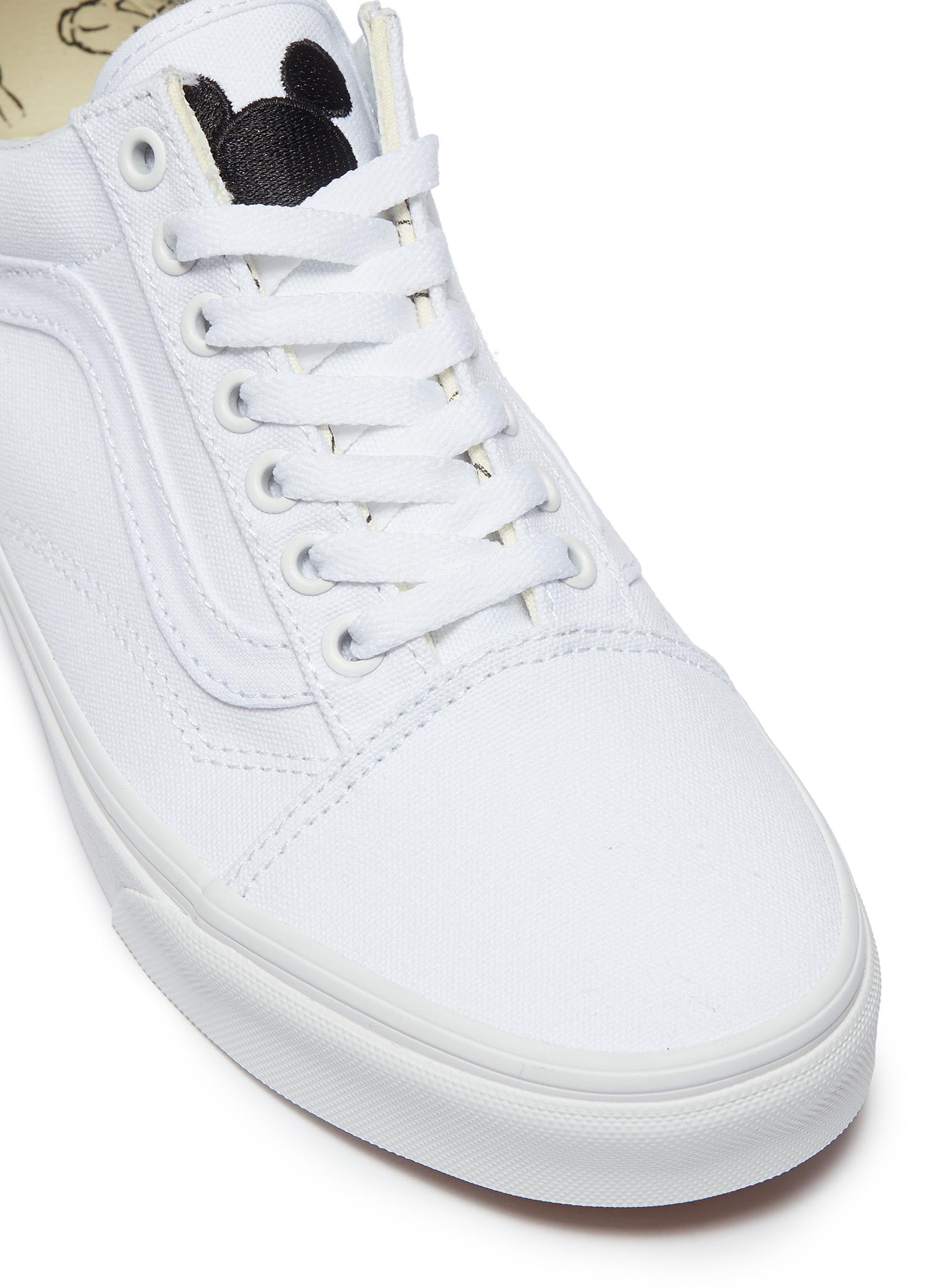23250af040f Lyst - Vans X Disney  old Skool  Mickey Mouse Canvas Sneakers in White