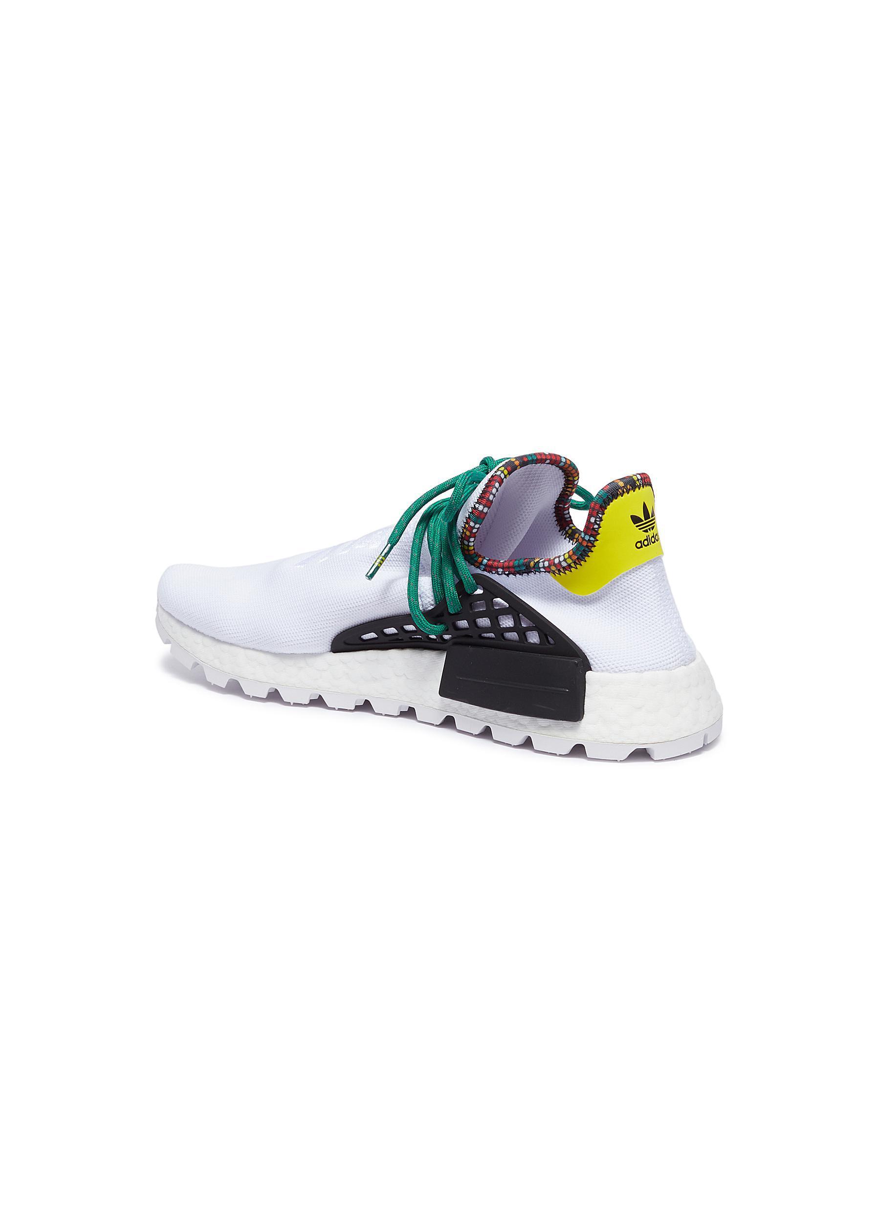 688b35b5fe46e Adidas Originals - White  solarhu Nmd  Slogan Embroidered Primeknit Sneakers  for Men - Lyst. View fullscreen