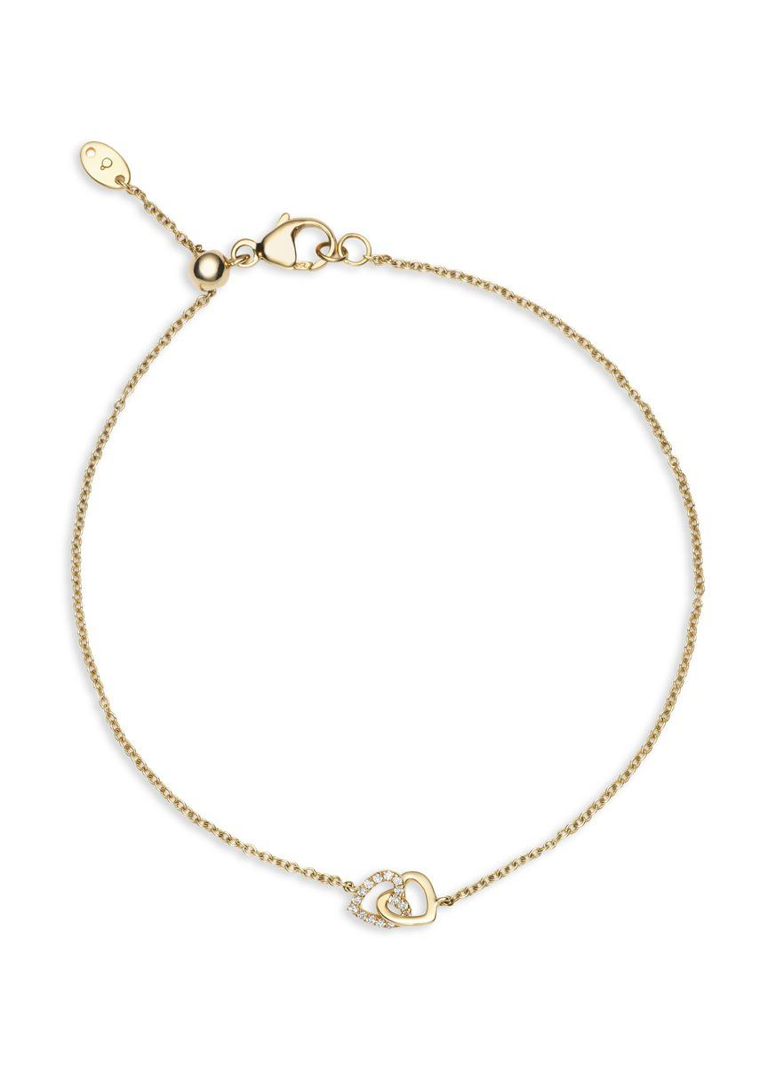 Loquet London Diamond Linked Heart Charm necklace - Metallic U92XYplb