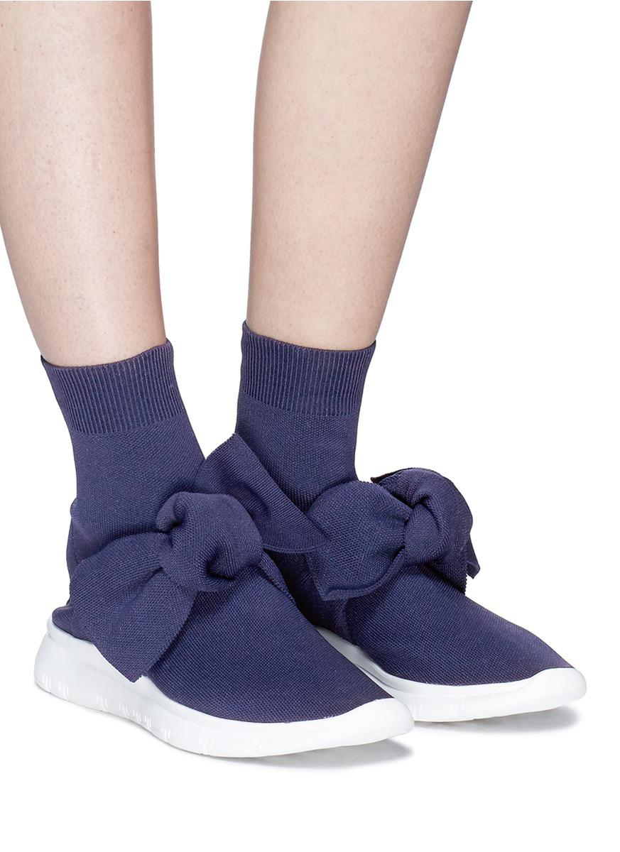 Cheap Sale With Paypal JOSHUA SANDERS Bow embellished sock sneakers Supply Marketable Cheap Online Marketable Online JentTou2aE