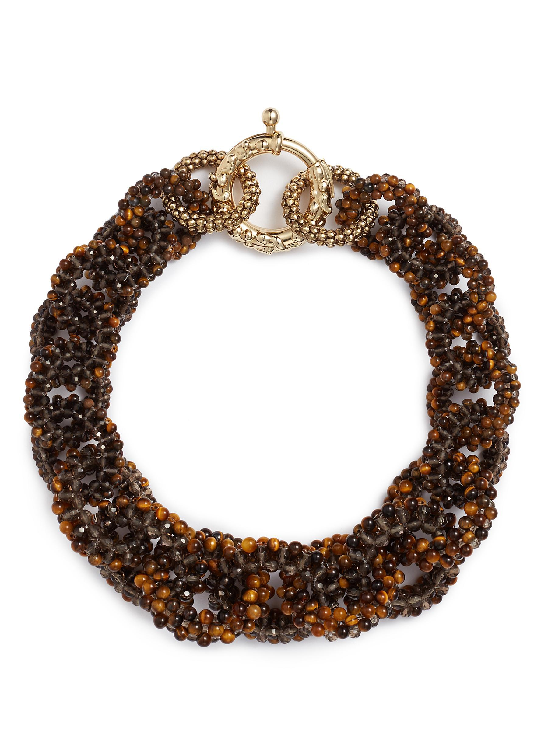 Rosantica Carramato short beaded necklace 44NiP
