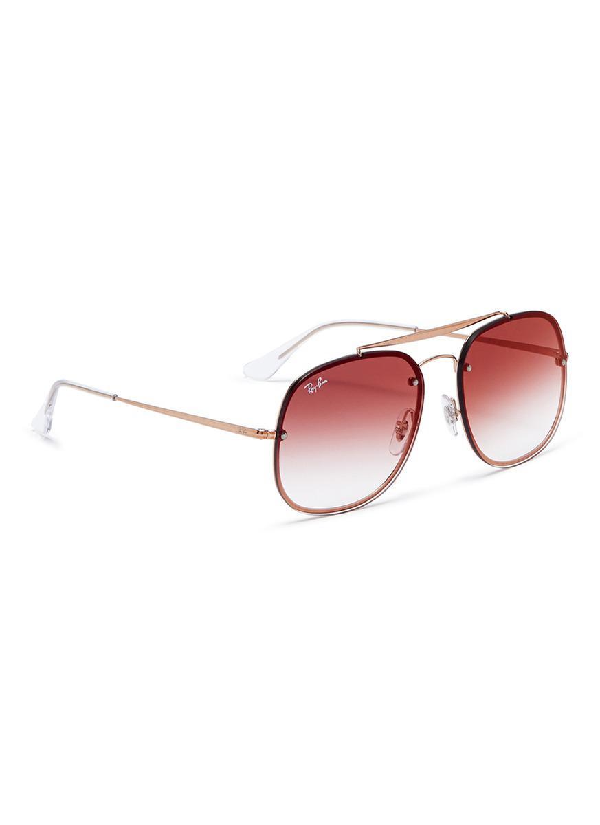 1ff7ee12175 Lyst - Ray-Ban  blaze The General  Metal Mirror Aviator Sunglasses ...
