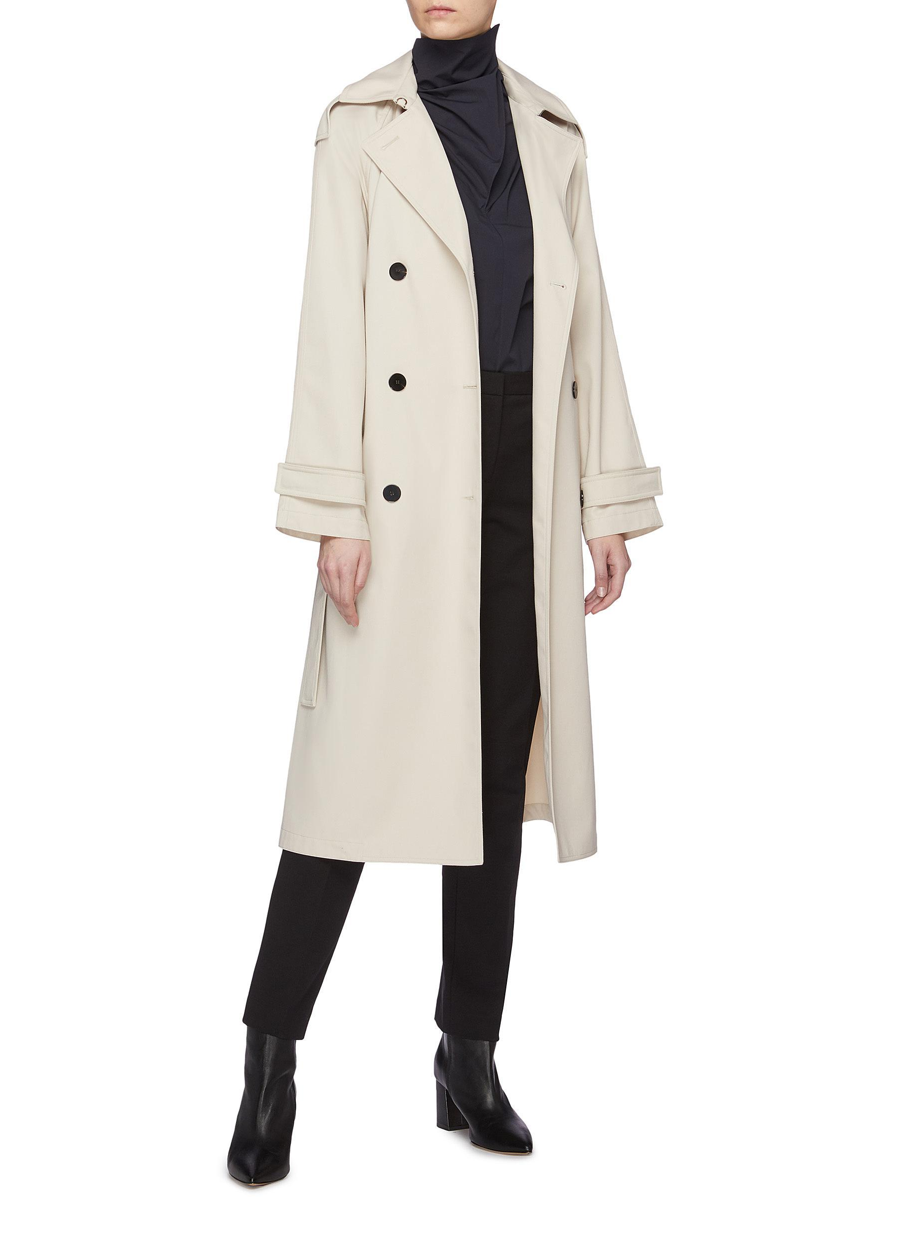 2f36bc5544 Theory - Natural 'staple' Belted Trench Coat - Lyst. View fullscreen