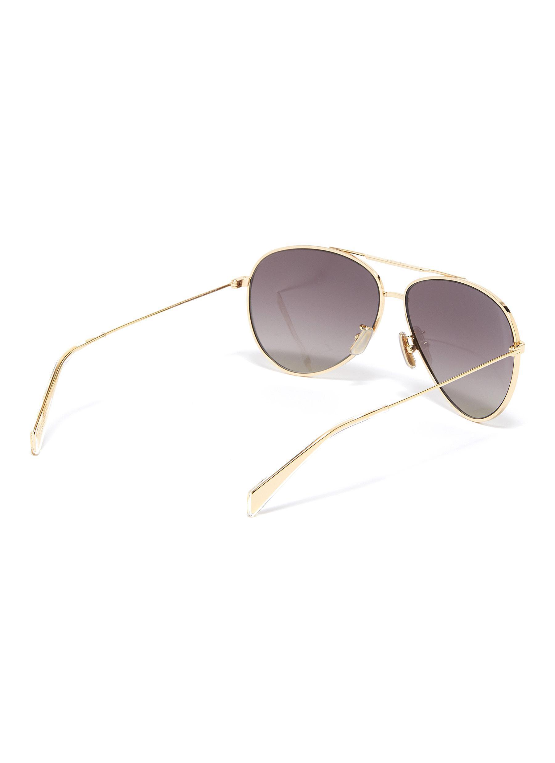 6fc753b4db2 Céline - Gray Metal Aviator Sunglasses for Men - Lyst. View fullscreen
