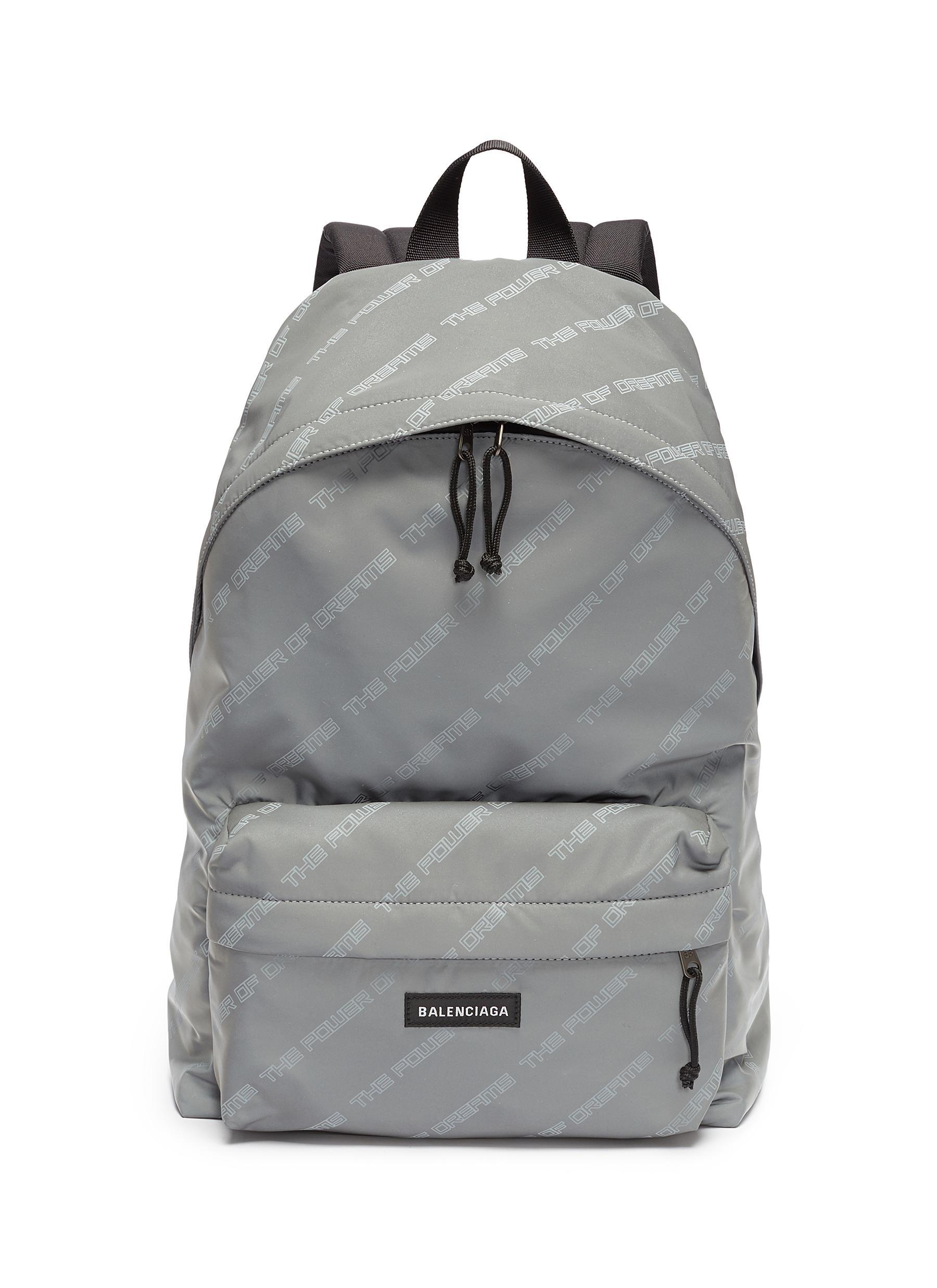 The Power of Dreams backpack - Grey Balenciaga Free Shipping Exclusive Get To Buy Cheap Price 7D0EBd