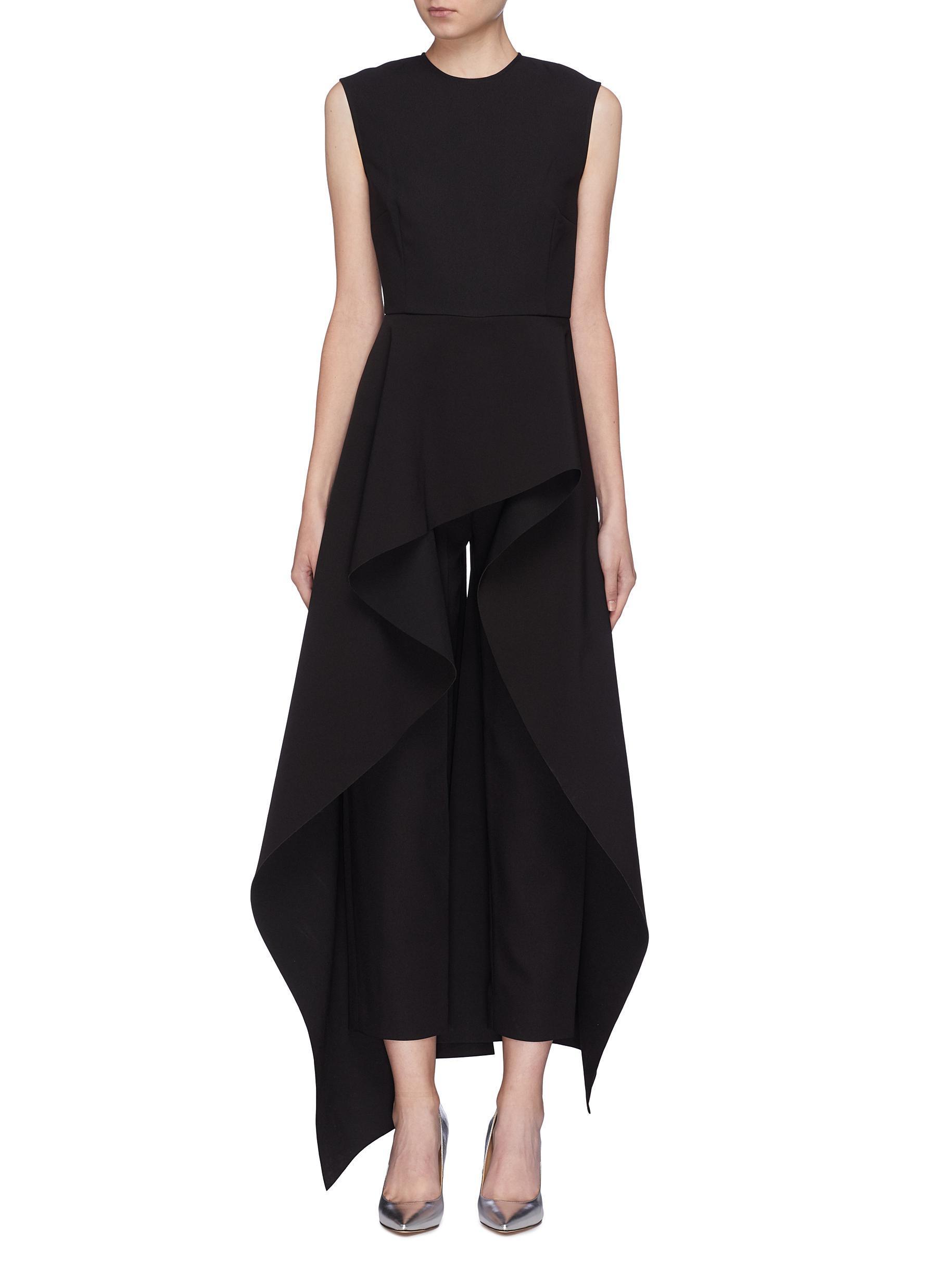 b9b4f11af7d Solace London Soraya Jumpsuit Black in Black - Lyst