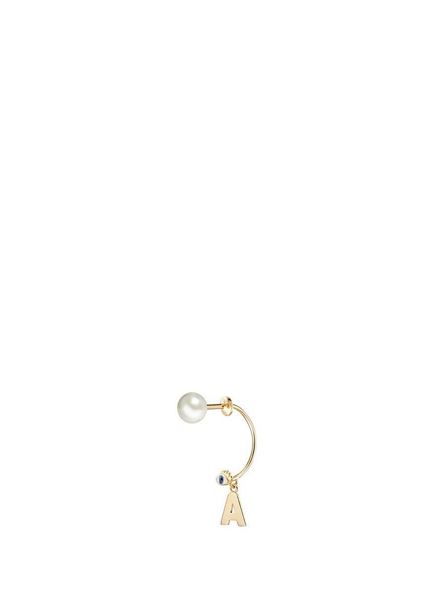Delfina Delettrez Yellow-gold single earring bD4Fj1YTP