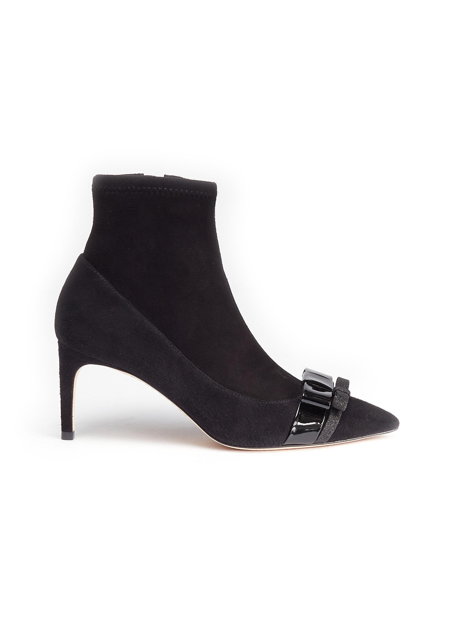 'andie Black In Lyst Sophia Webster Boots Ankle Bow' Suede 4j5LAq3R