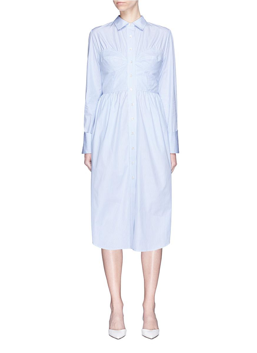 Latest Collections  Discounts Cheap Online Striped Cotton-poplin Shirt Dress - Blue AlexaChung Discount Explore Cheap Sale Online With Paypal Sale Online kP8CoaE0