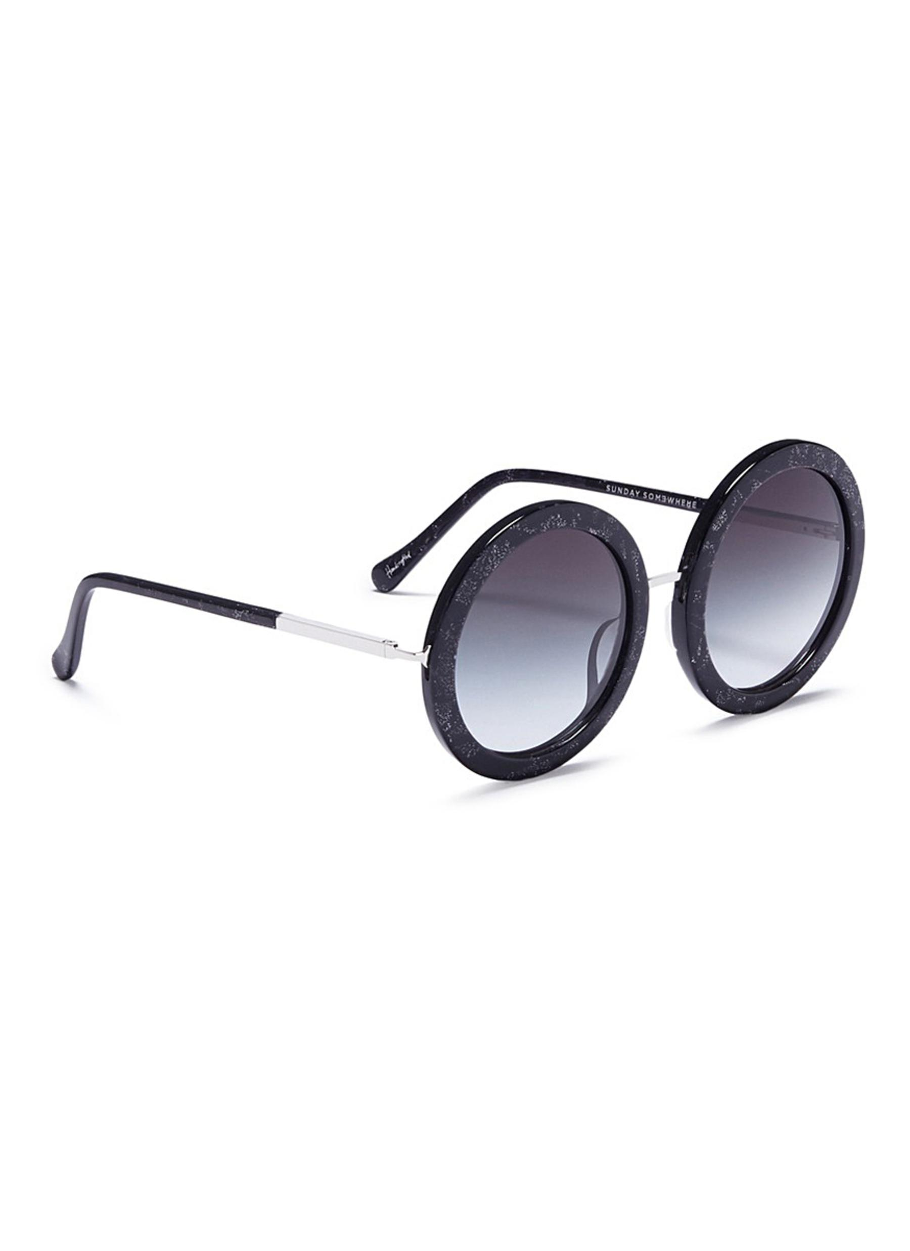 d22ba98ade1d8 Sunday Somewhere  isabella  Glitter Acetate Round Sunglasses in ...