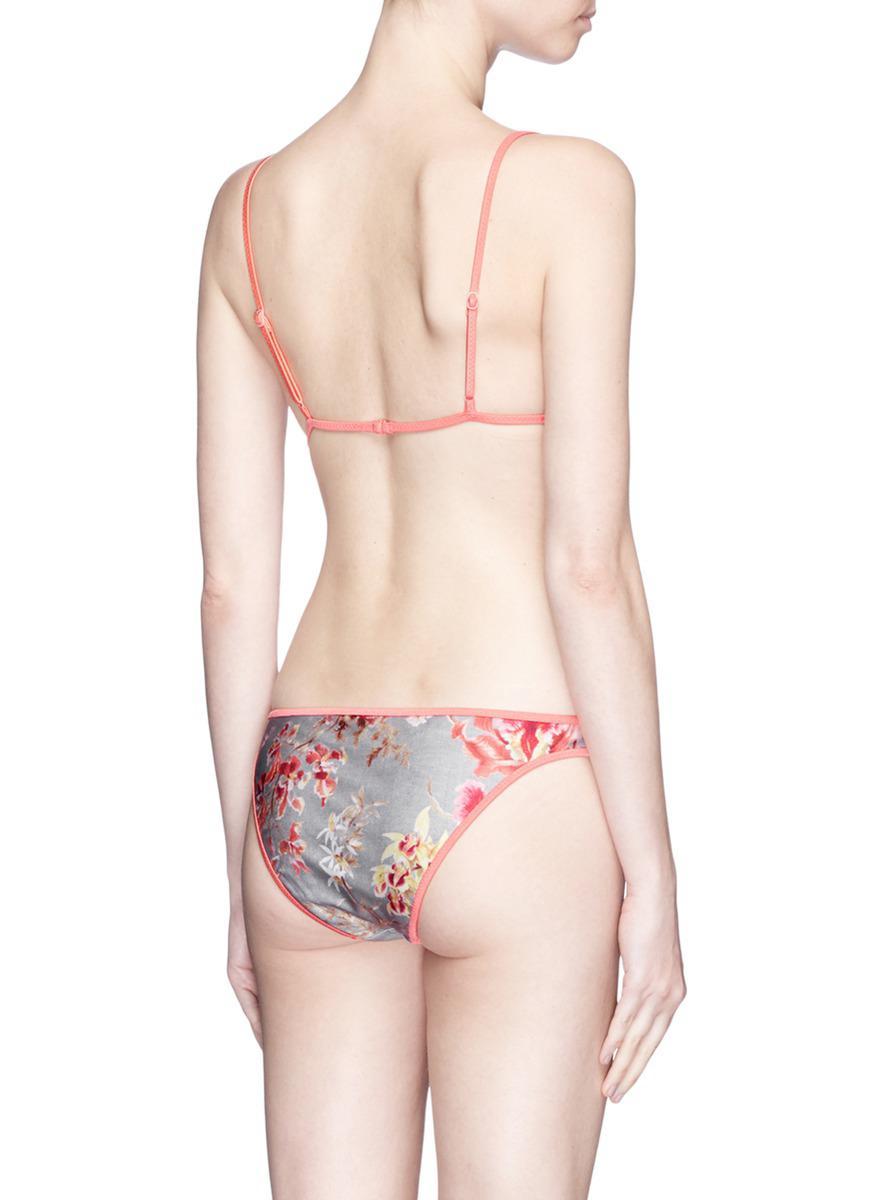 163d1dbaf97b8 Zimmermann 'mercer' Reversible Floral Triangle Bikini Set in Pink - Lyst