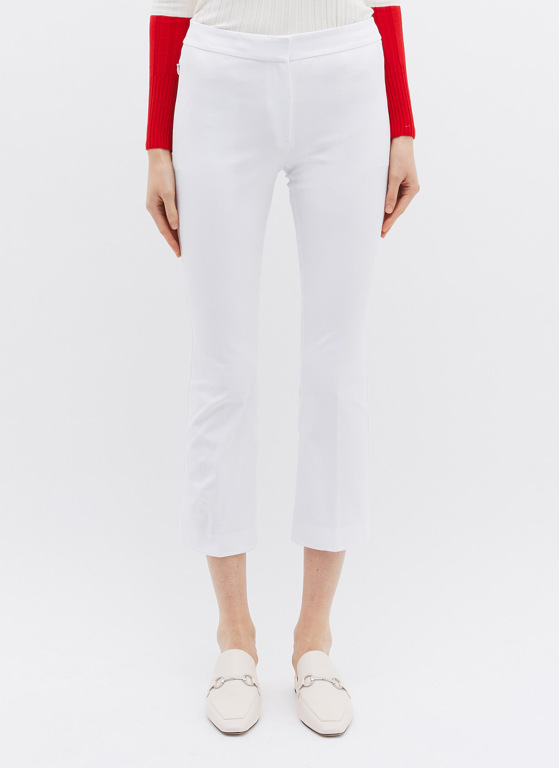 21e73bc134 Theory. Women's White 'kick' Flared Cropped Trousers