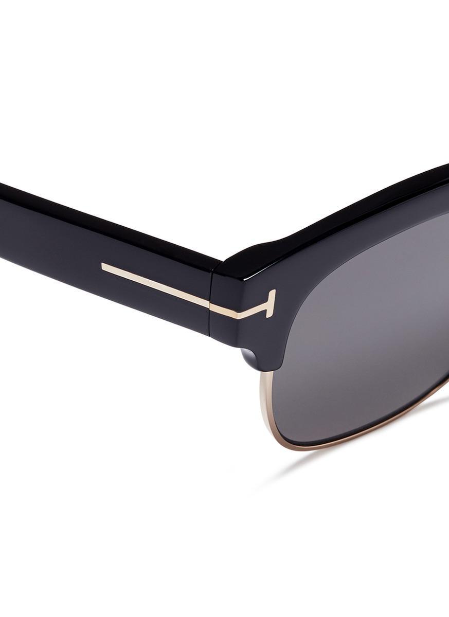 a60673f22d5 Lyst - Tom Ford  harry  Metal Rim Acetate Square Sunglasses in Black