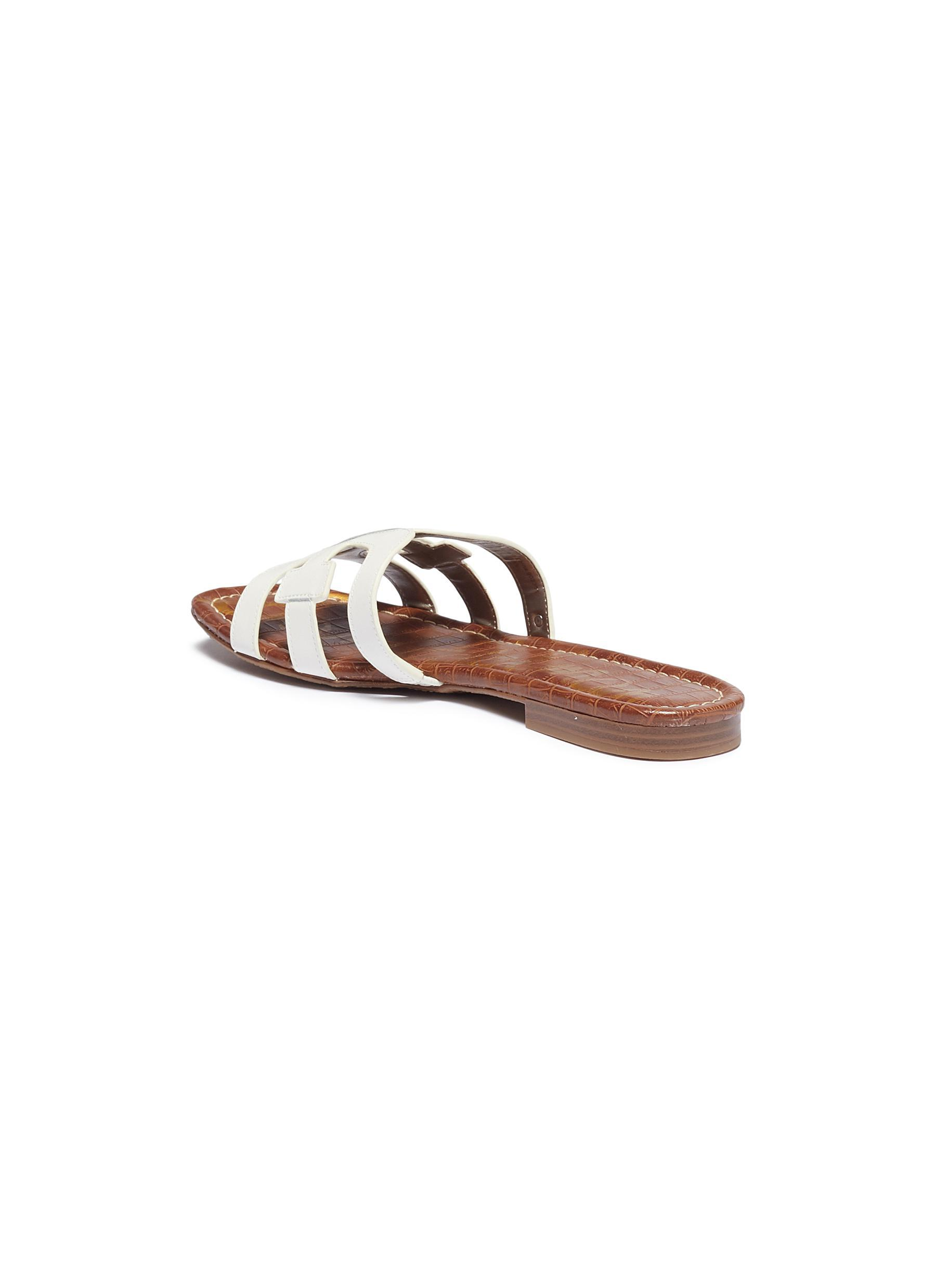 ce549c907 Sam Edelman - White  bay  Leather Slide Sandals - Lyst. View fullscreen