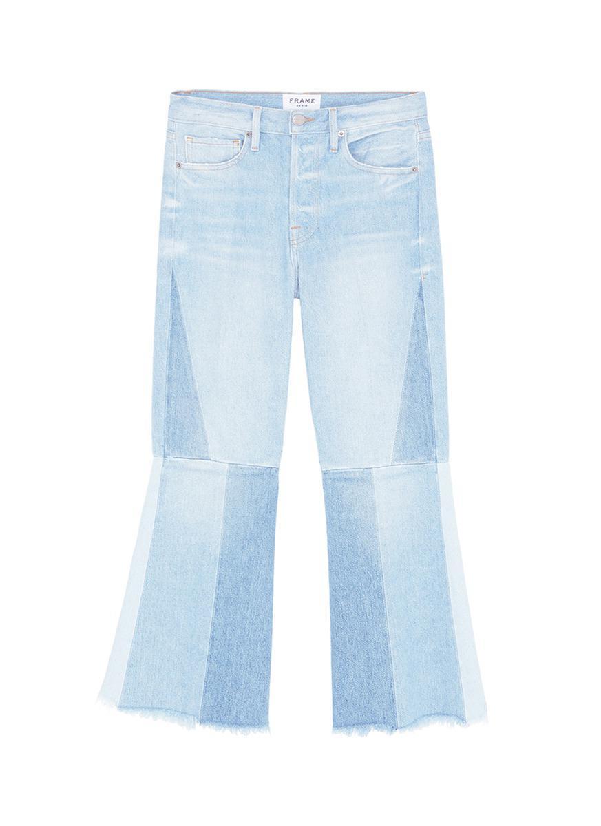 Jeans Évasés Manchette - Cadre Bleu Denim hU8VL2RT5